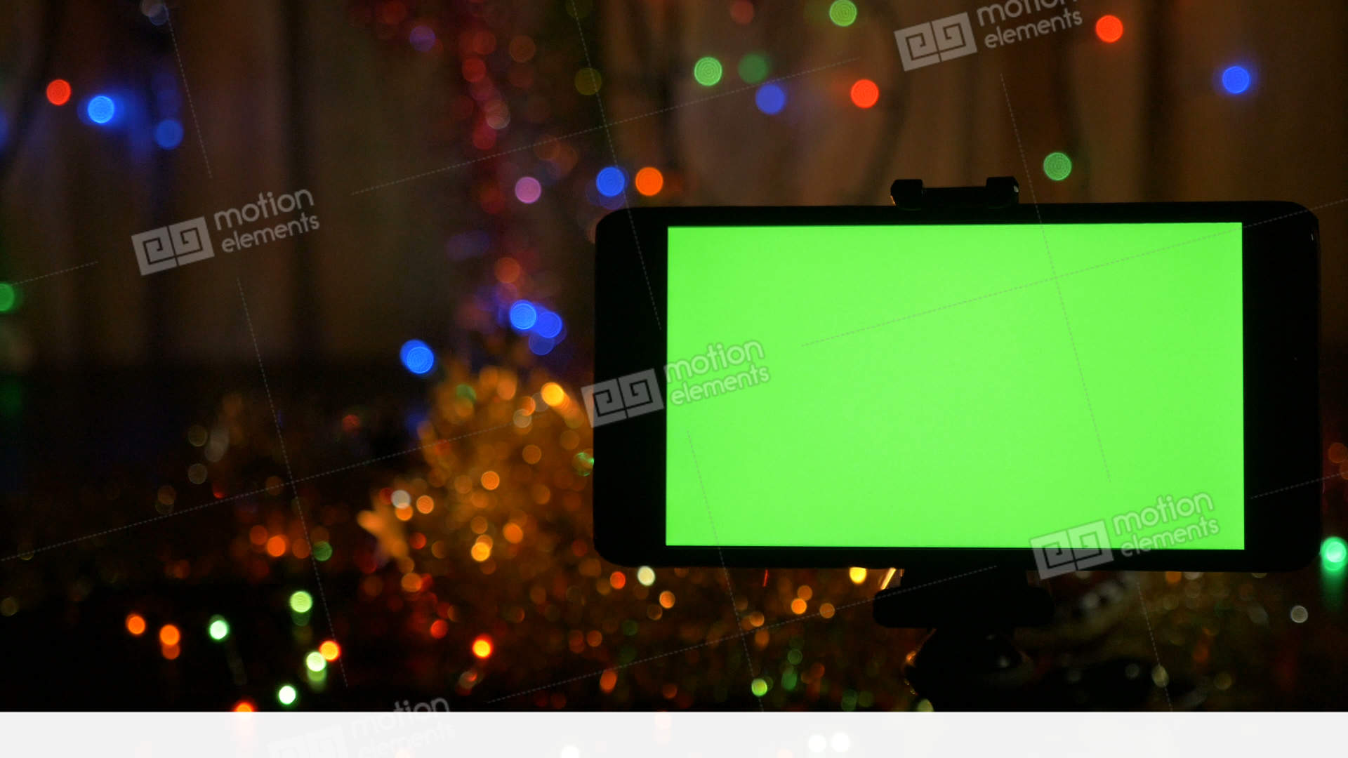 new years background in the foreground a smartphone stock video footage
