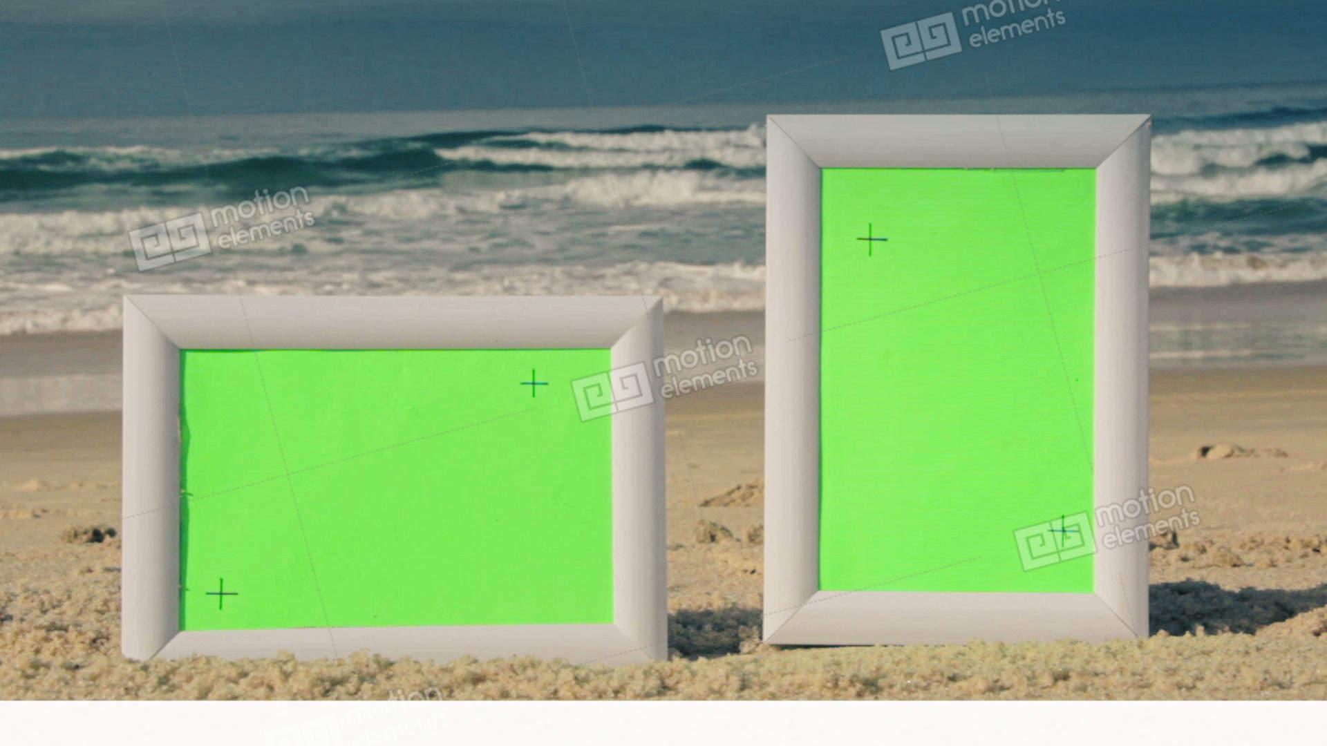 Green Screen Sunny Beach Frames Stock video footage | 11414234