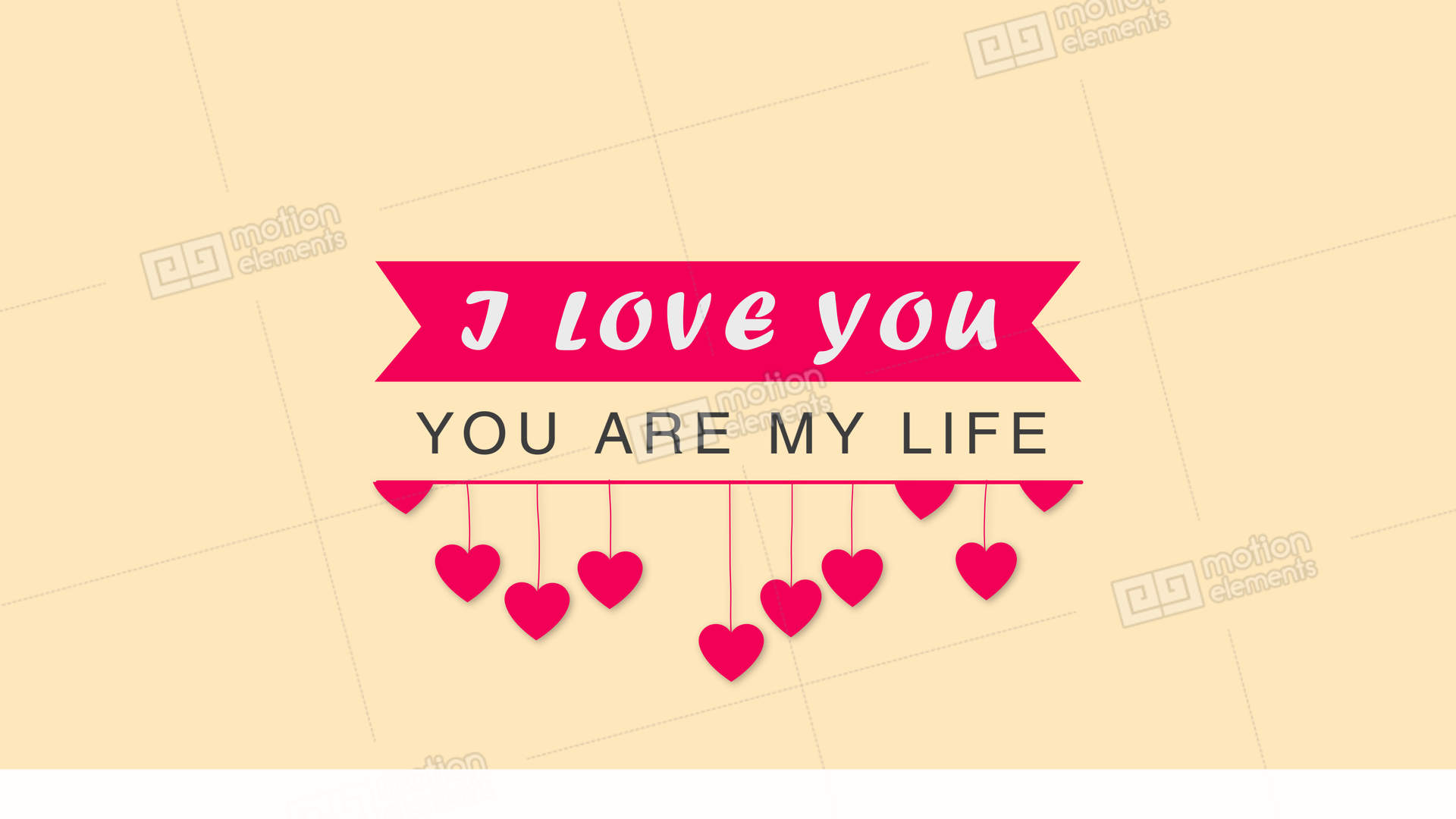 Greeting Wedding Card With Alpha Channel I Love You You Are My