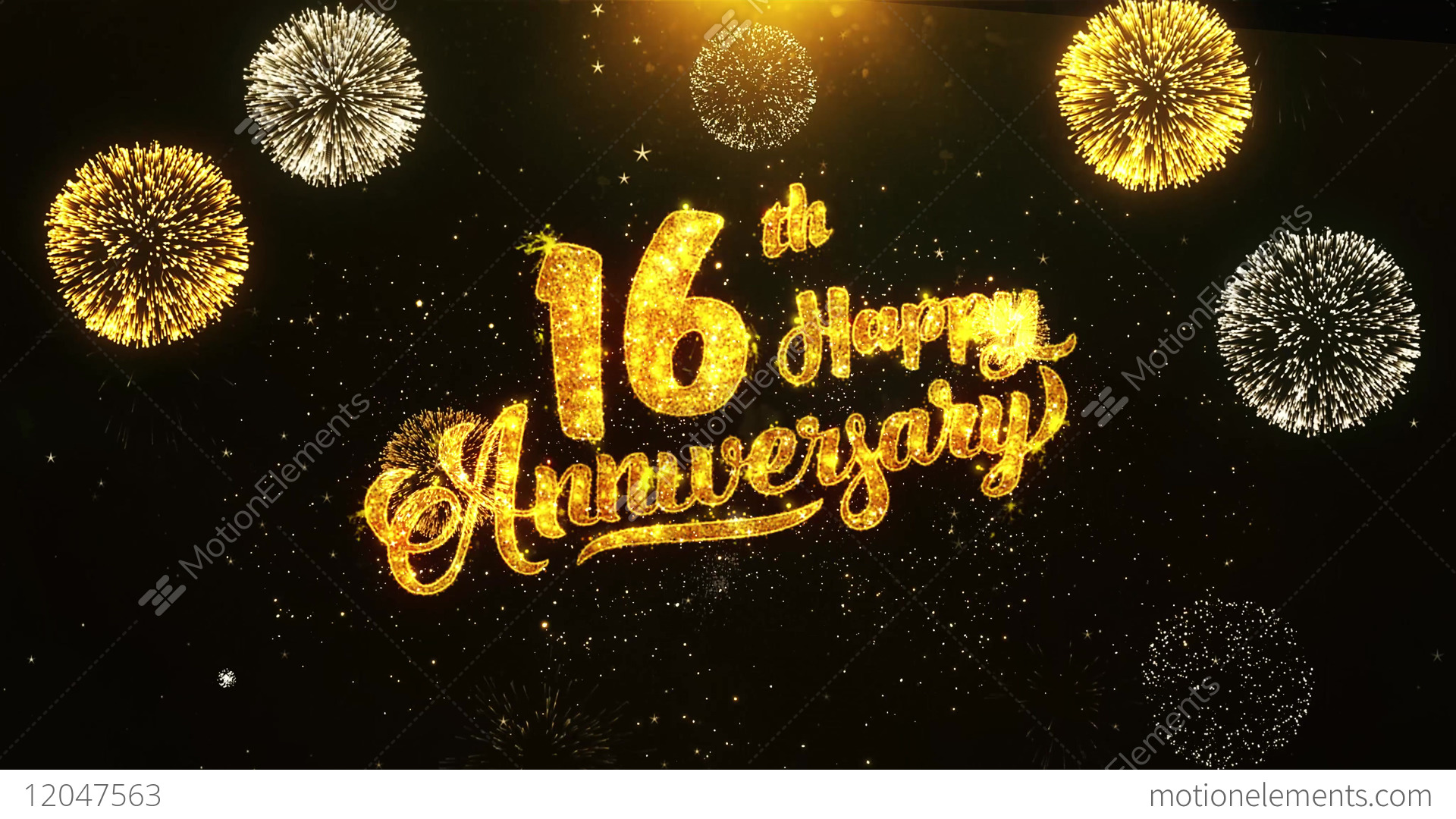 16th Happy Anniversary Text Greeting Wishes Celebration