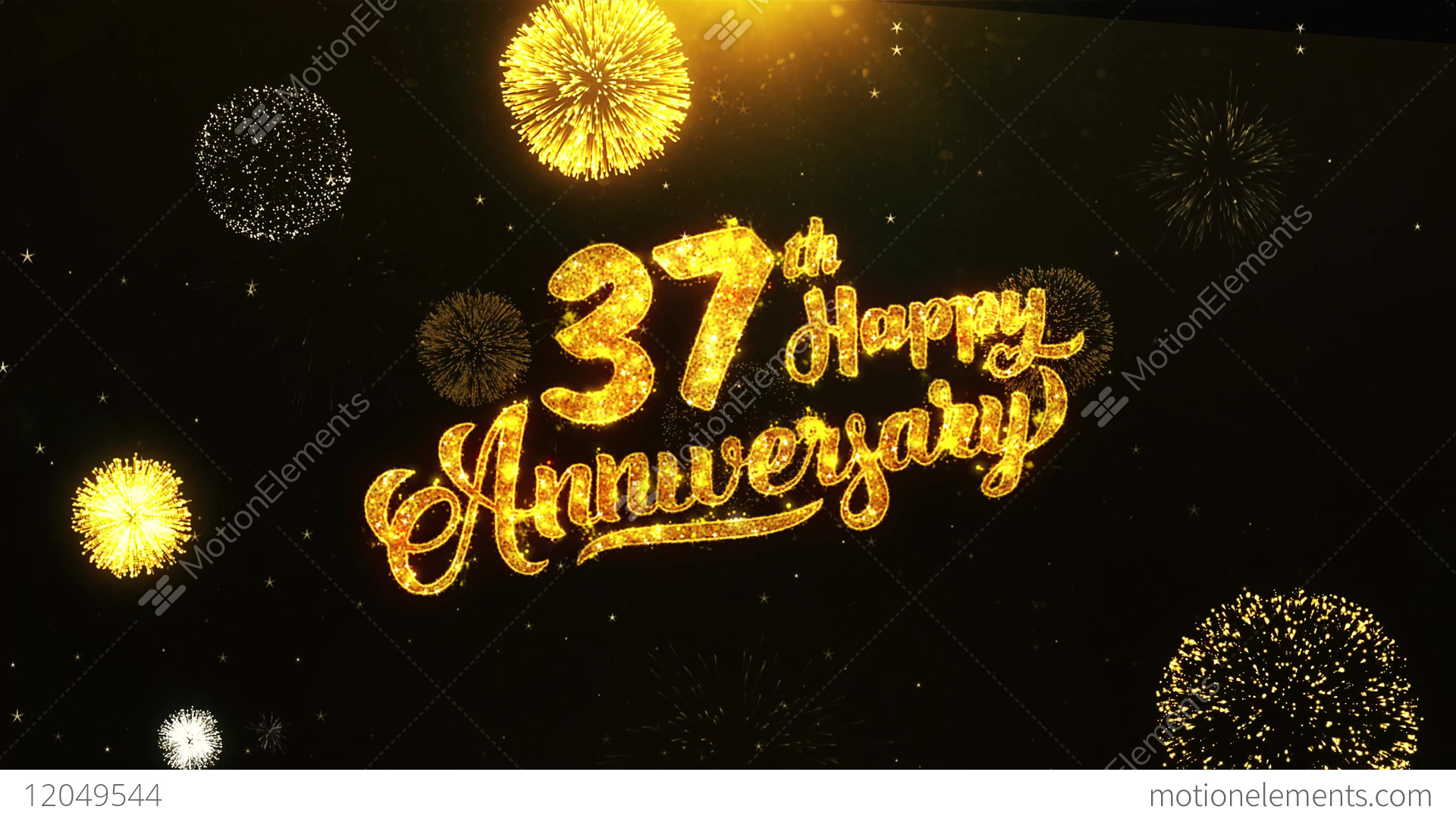 37th Happy Anniversary Text Greeting Wishes Celebration