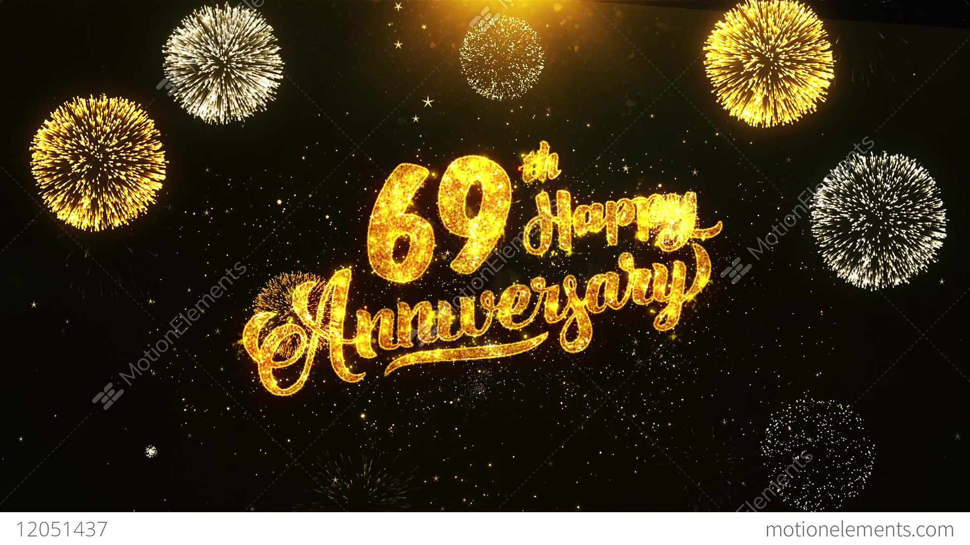 69th happy anniversary text greeting wishes celebration 69th happy anniversary text greeting wishes stock video footage stopboris Images