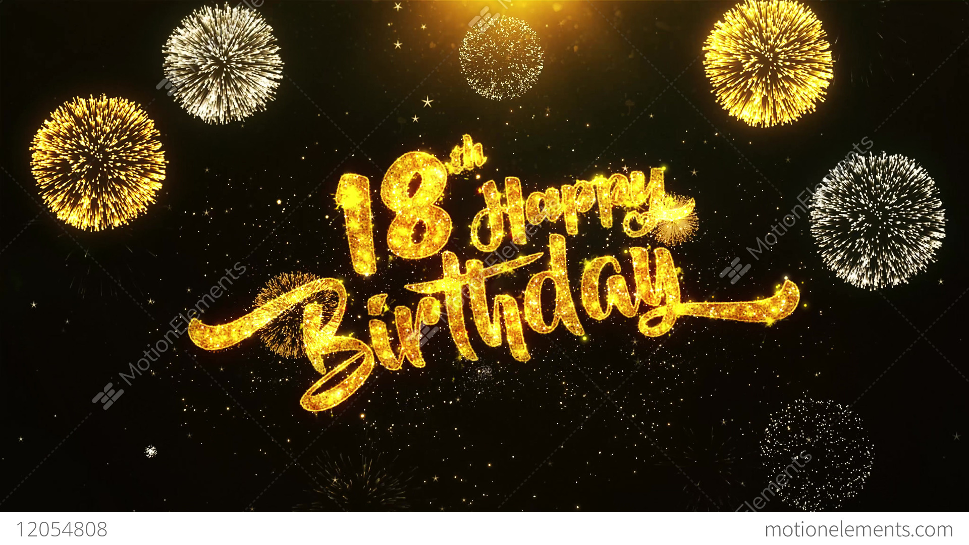 18th Happy Birthday Text Greeting, Wishes, Celebration,... Stock Video Footage