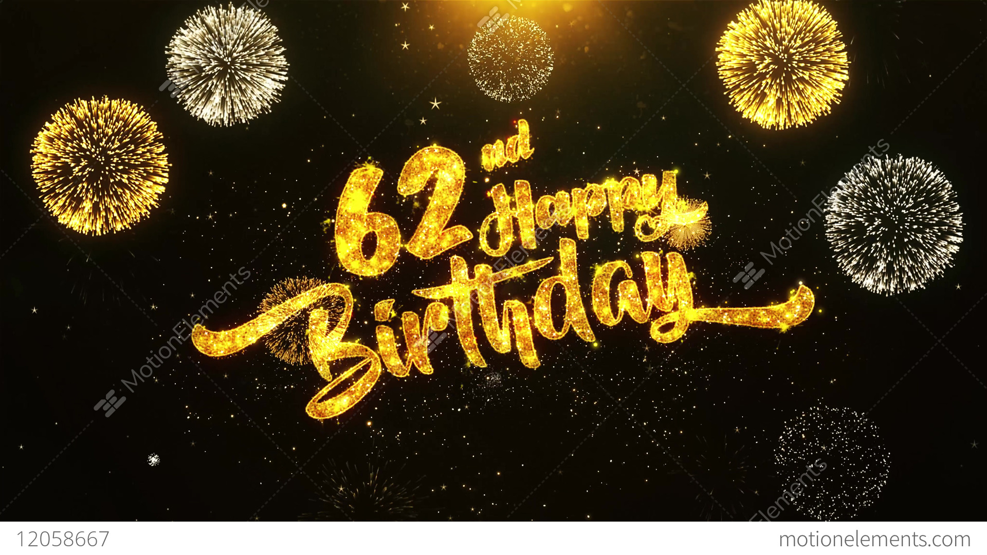 62nd happy birthday text greeting wishes celebration invitation 62nd happy birthday text greeting wishes celebration stock video footage m4hsunfo