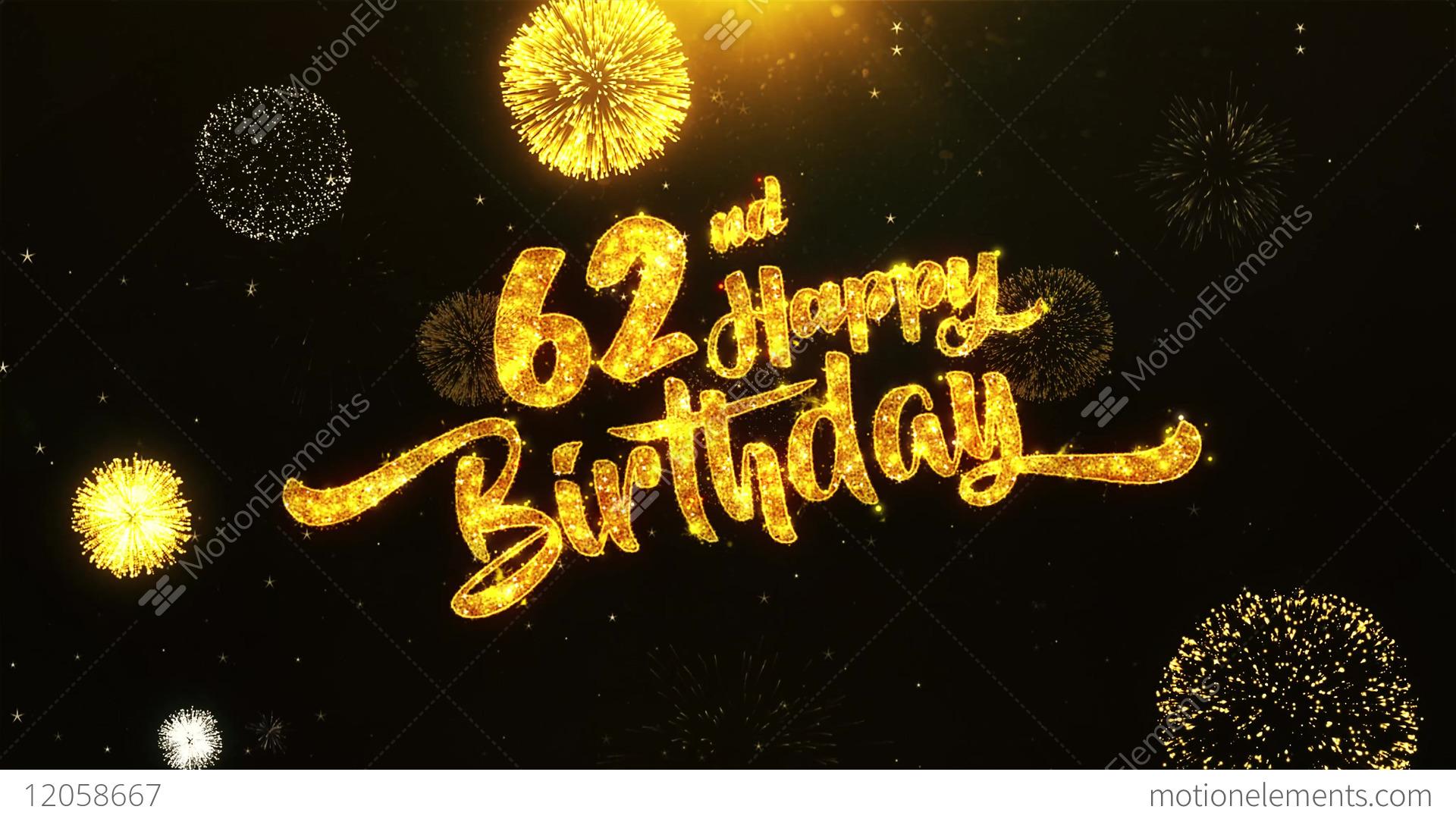 Happy 62nd birthday topsimages happy birthday text greeting wishes celebration stock video footage jpg 1920x1080 happy 62nd birthday m4hsunfo