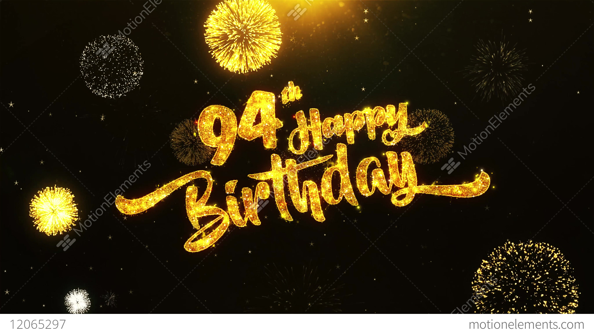 94th Happy Birthday Text Greeting Wishes Celebration Stock Video Footage
