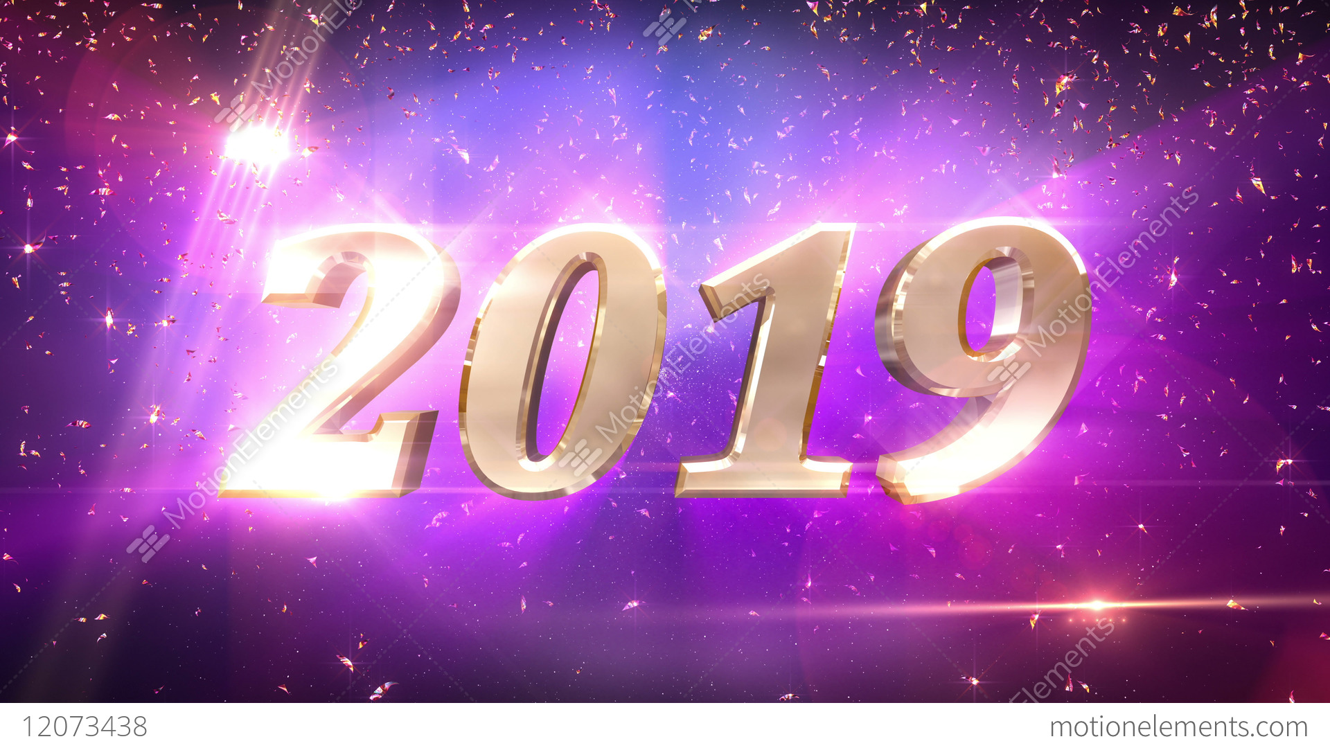 Charming New Year 2019 Countdown Animation Stock Video Footage