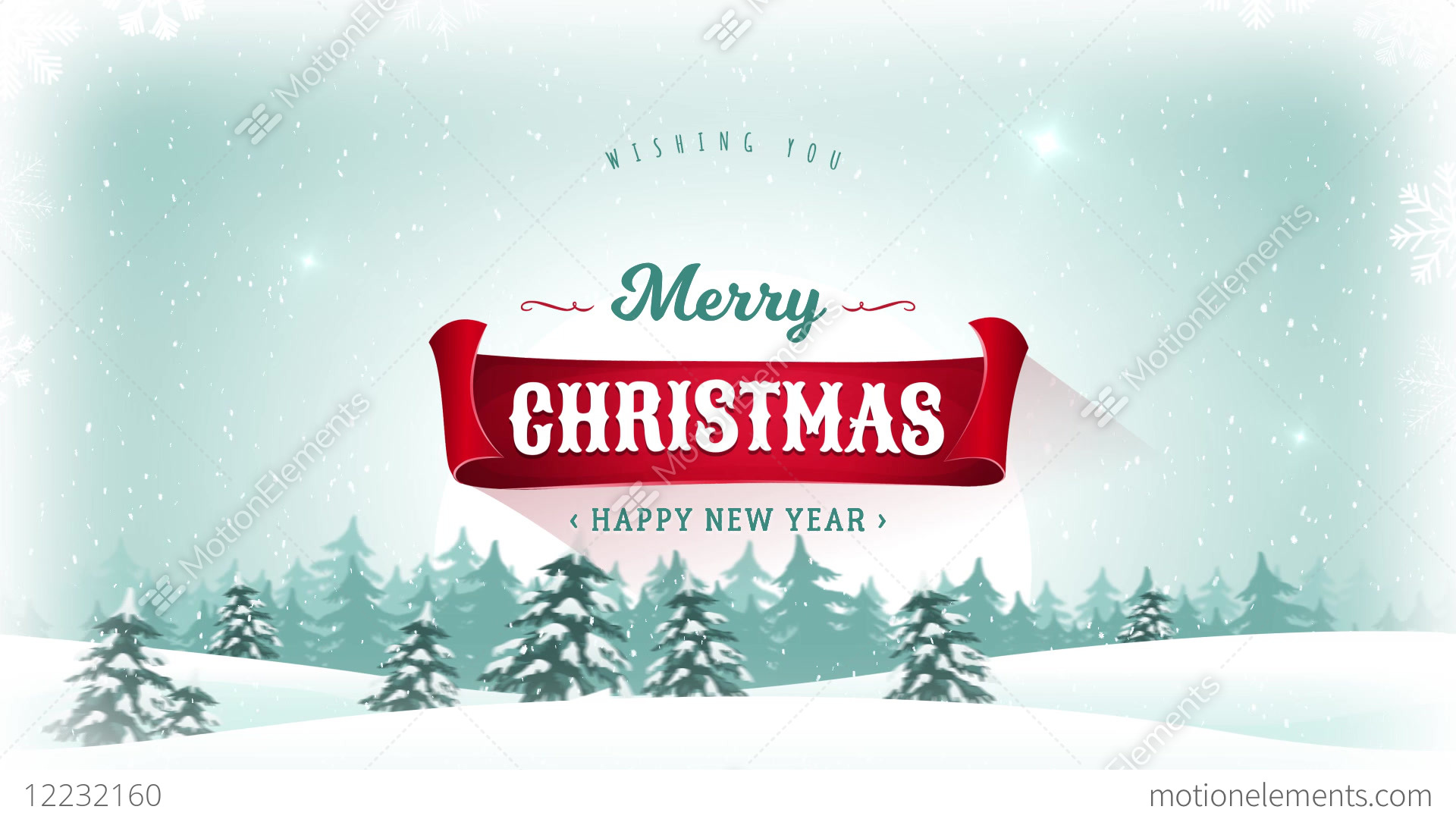 merry christmas happy new year background stock video footage