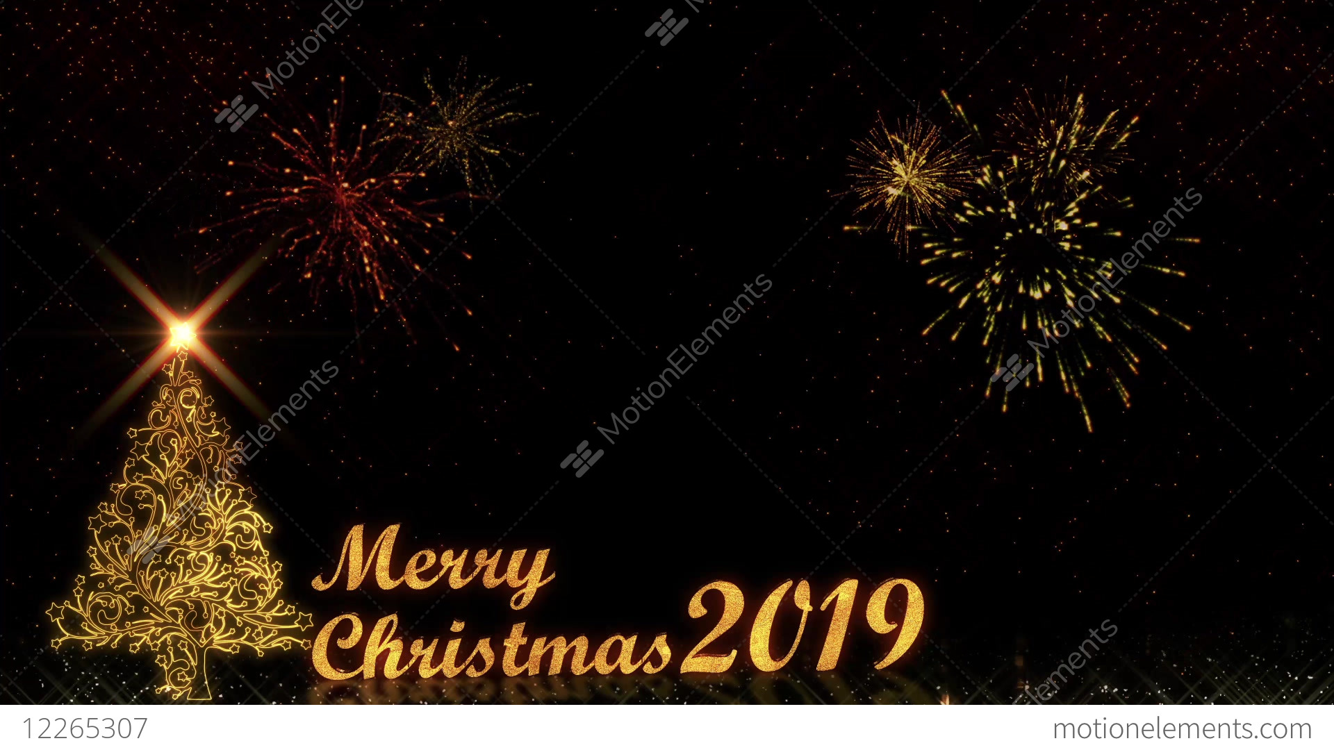 golden light shine particles merry christmas and happy stock video footage