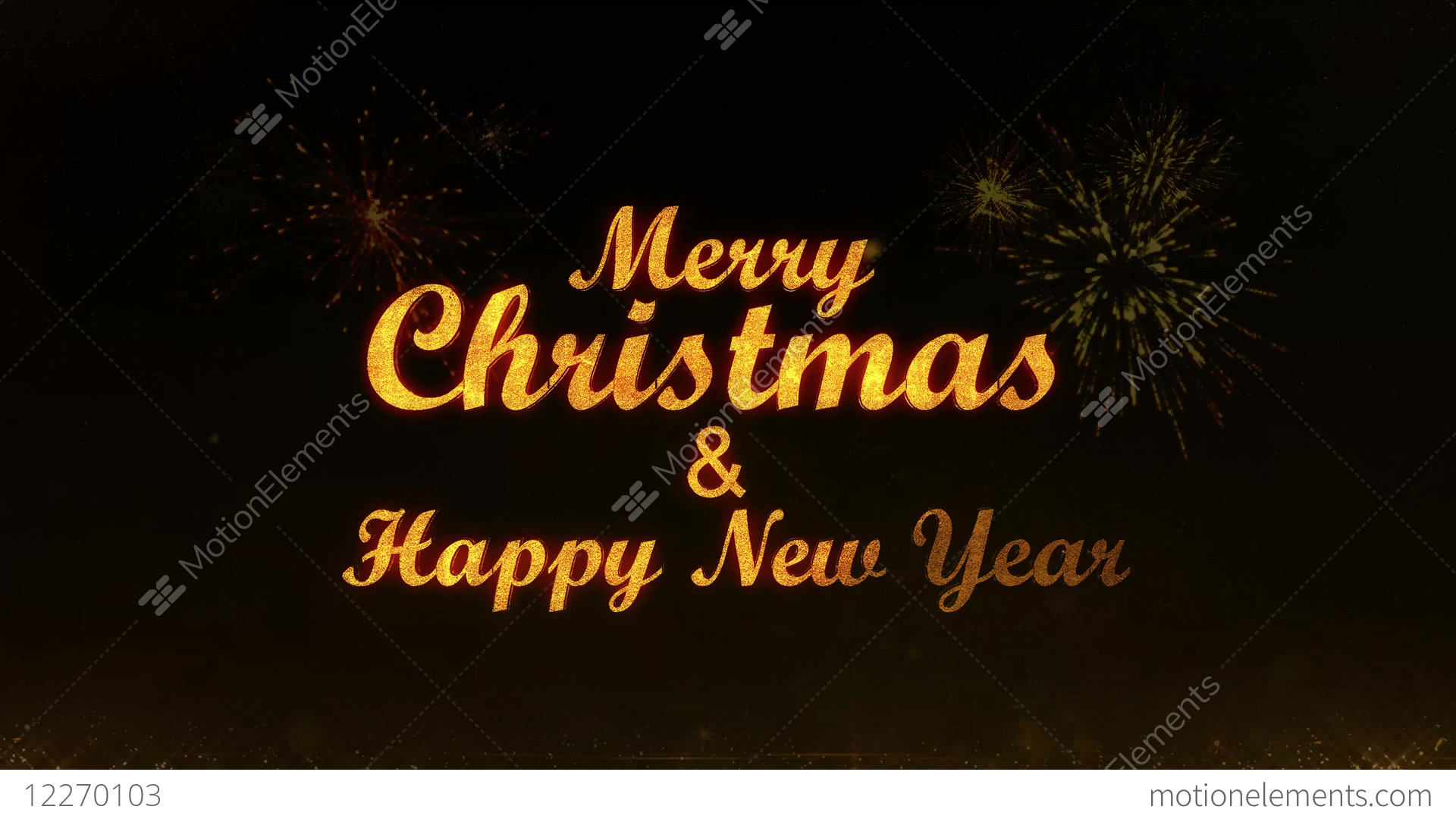 merry christmas and happy new year golden light shine stock video footage