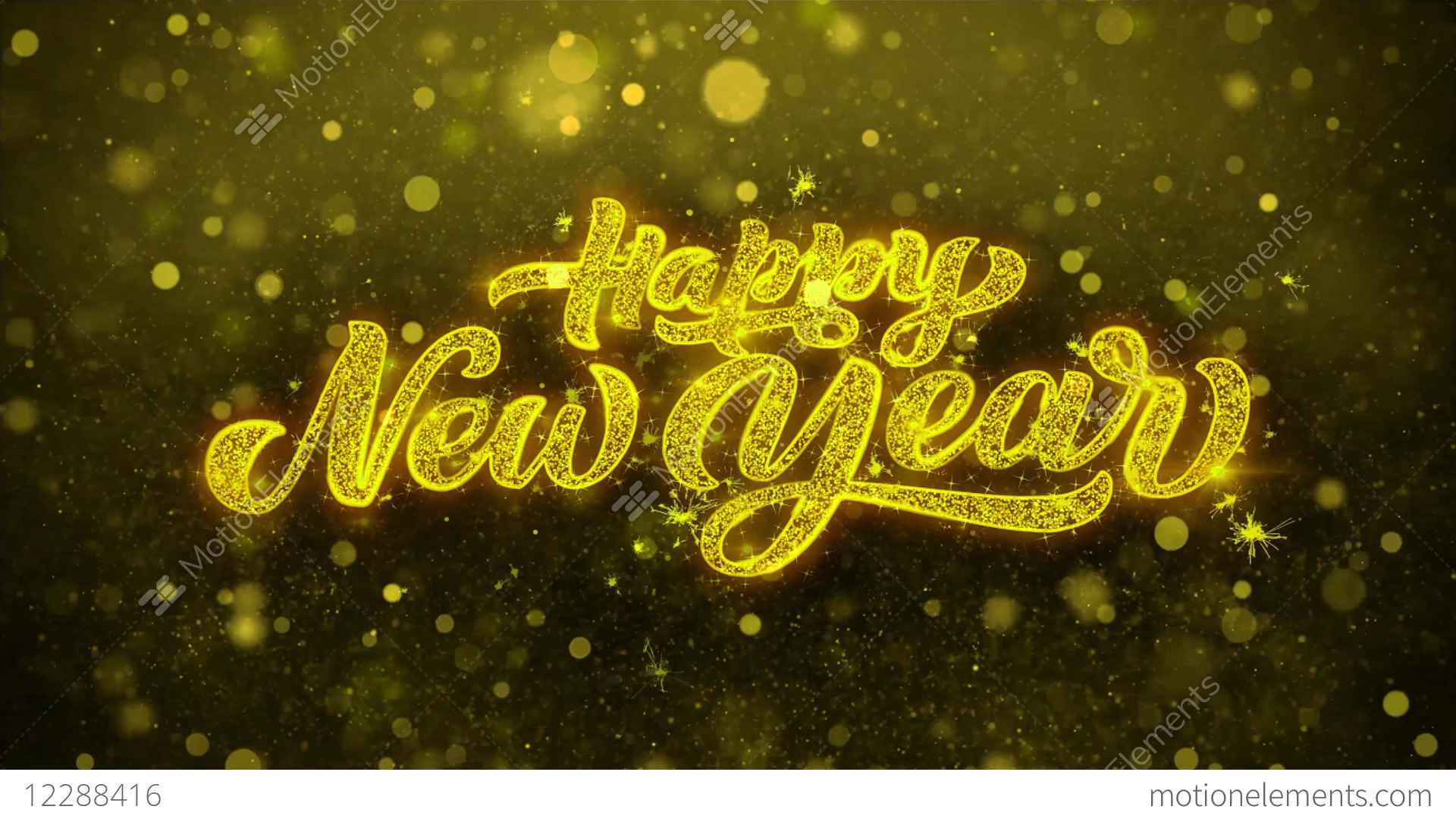 happy new year wishes greetings card invitation stock video footage