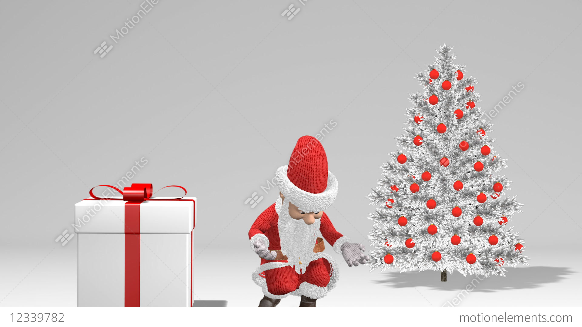Merry Christmas And Happy New Year 2019 Animation Santa Claus With