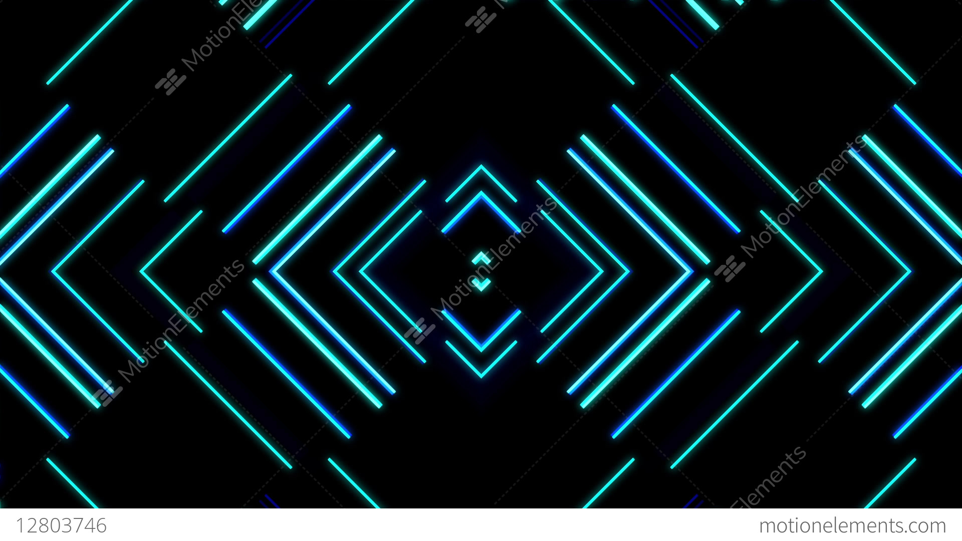 Neon Diamonds VJ Loop Stock Animation
