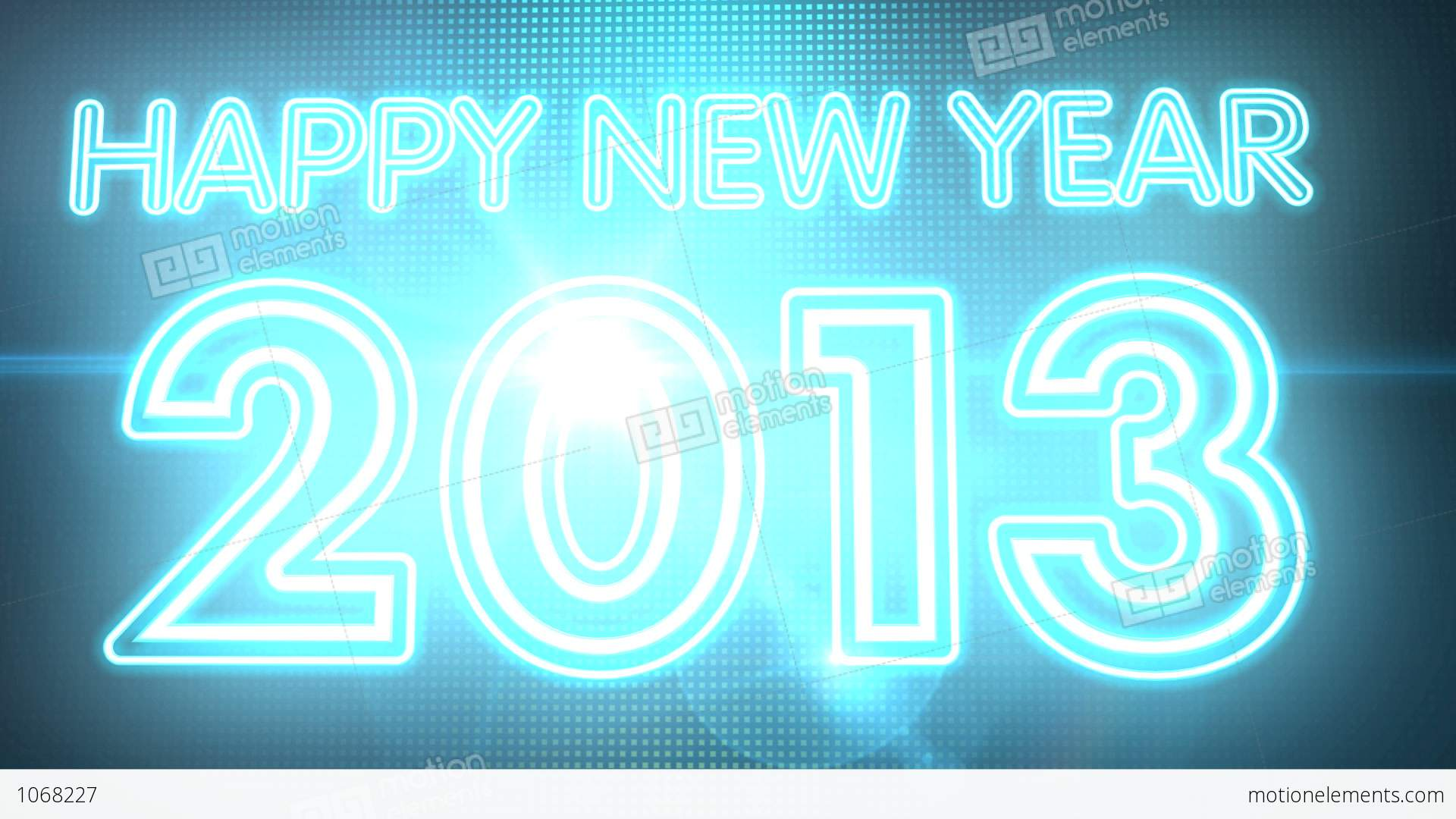 Happy New Year 2013 Neon Sign HD Stock Animation | 1068227