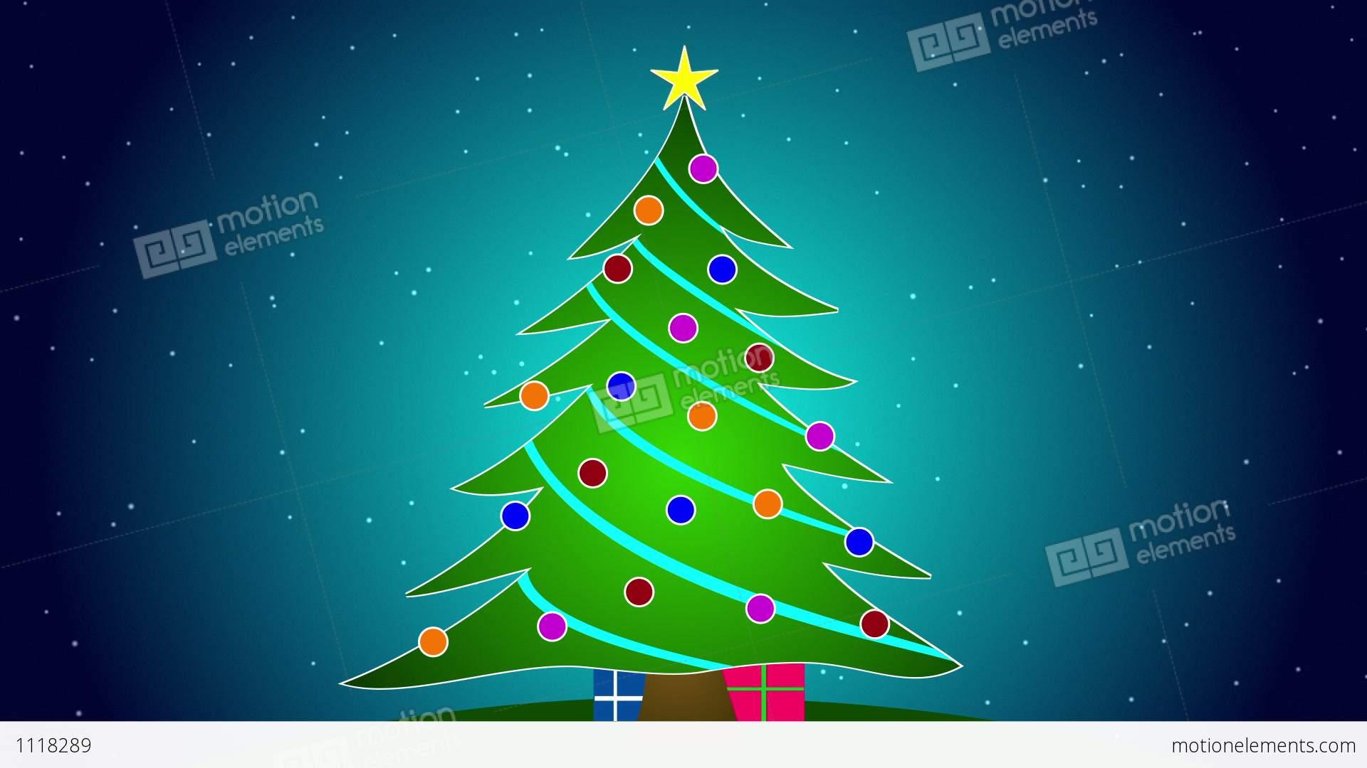 Merry Christmas Tree Stock Animation 1118289