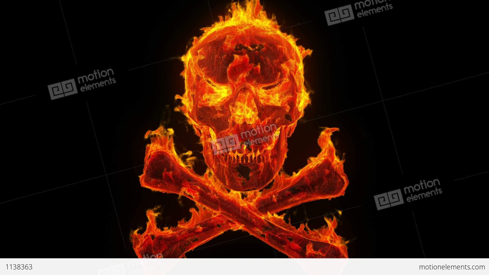 Burning skull and crossbones stock animation 1138363 burning skull and crossbones stock video footage altavistaventures Choice Image