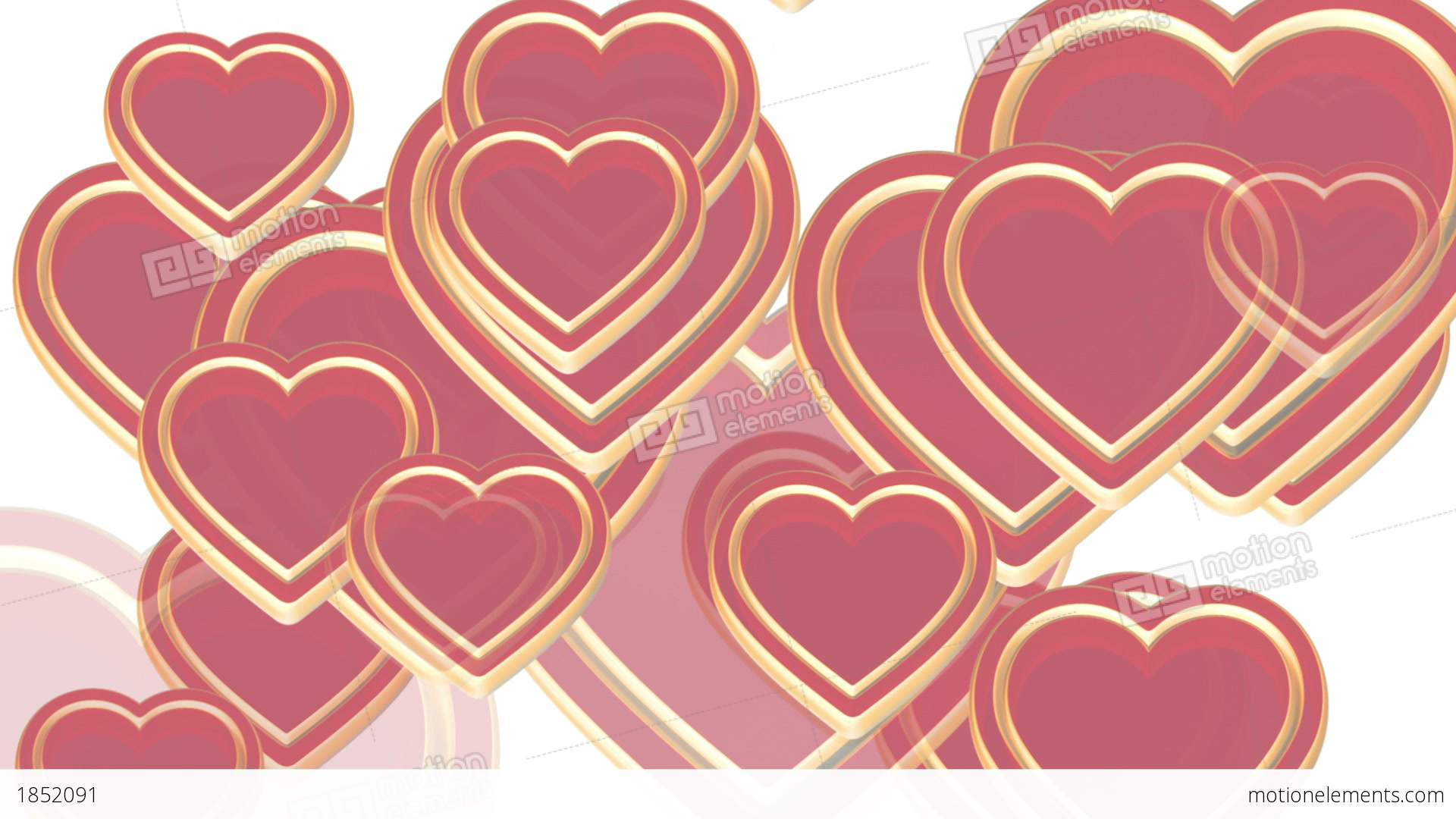 100 flying love hearts, wedding animation, valentines day, alpha