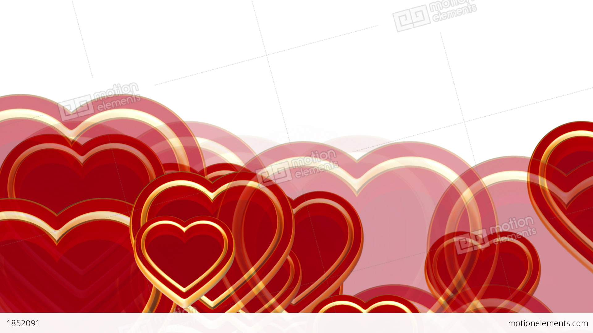 100 Flying Love Hearts Wedding Animation Valentines Stock Video Footage