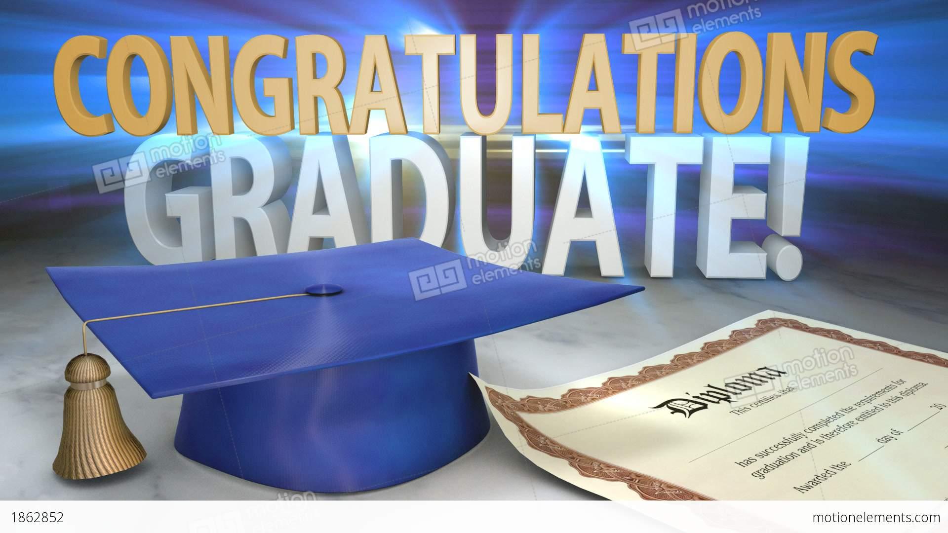Congratulations Graduate Animated Title Stock Animation