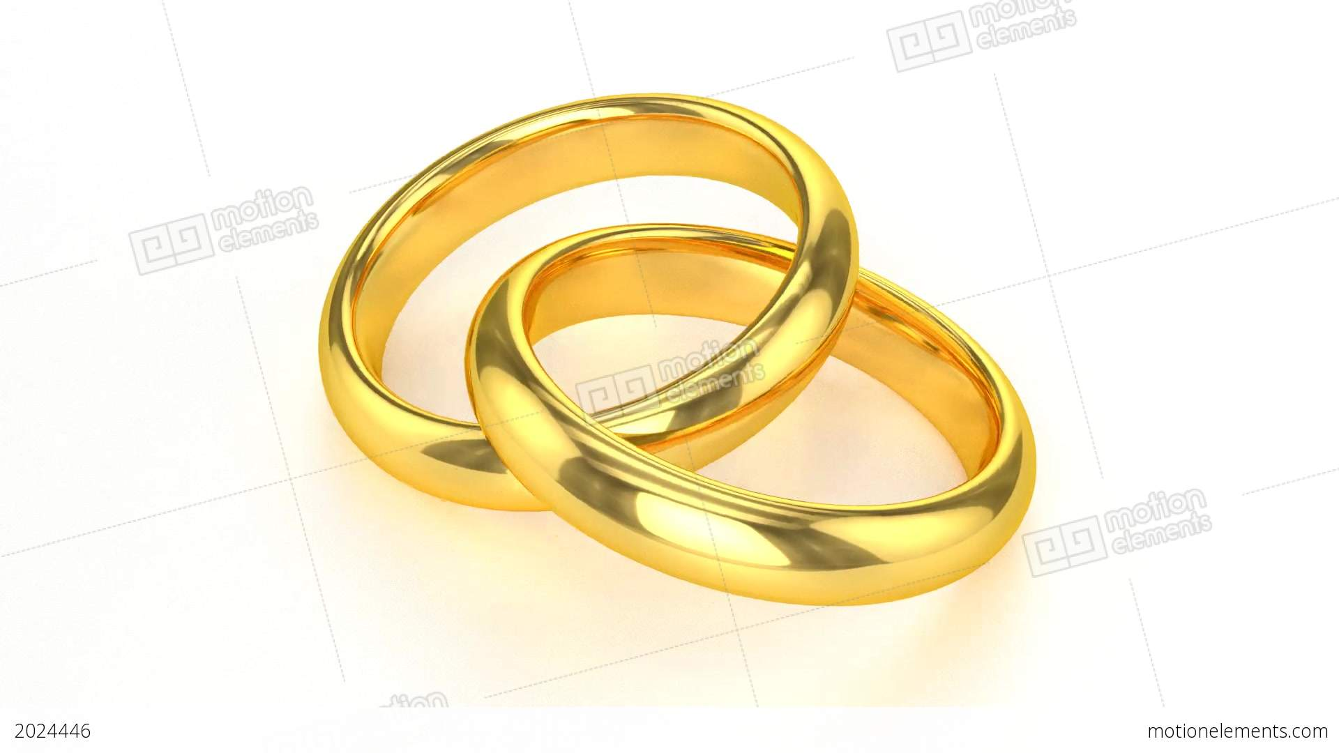 Realistic Golden Wedding Rings Stock Animation 2024446