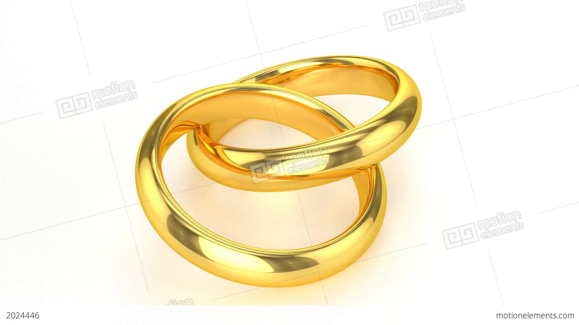 Realistic Golden Wedding Rings Stock Animation | 2024446