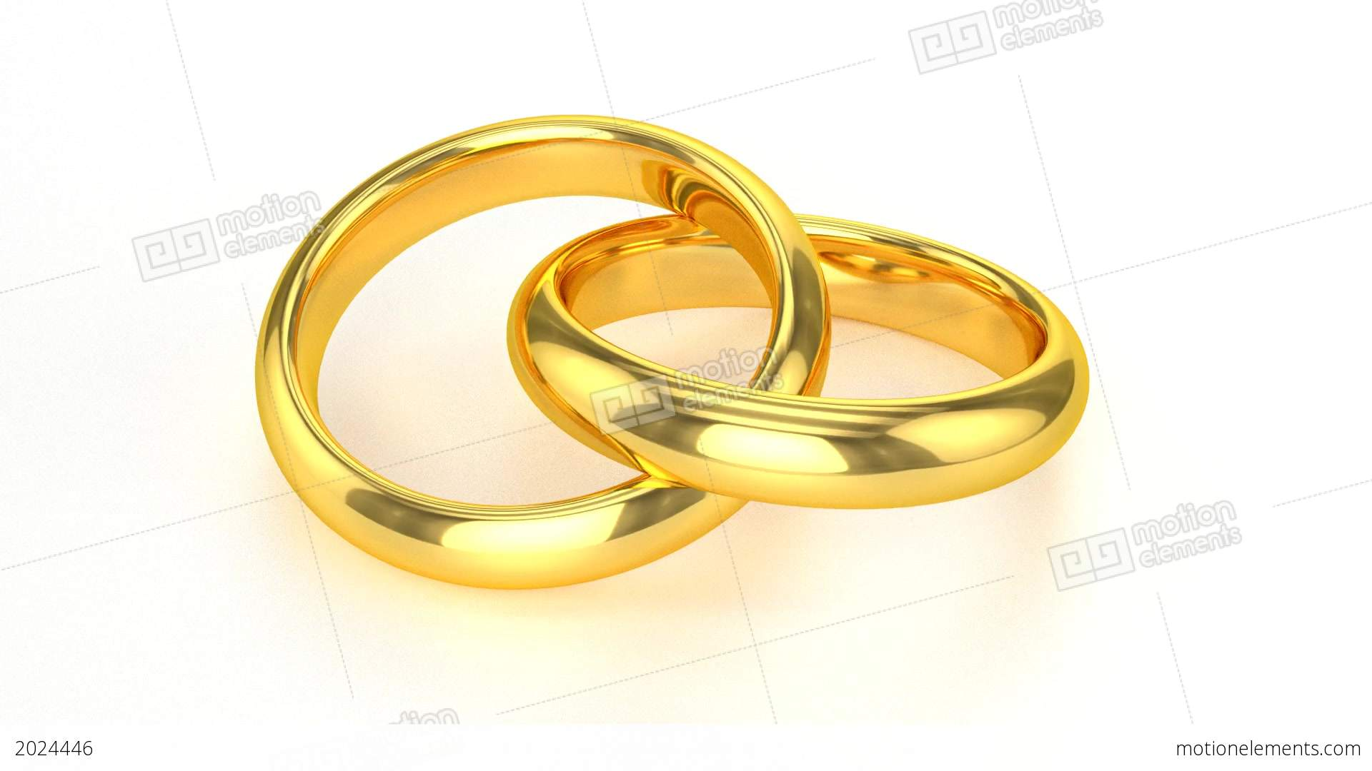 Realistic Golden Wedding Rings Stock Animation 2024446