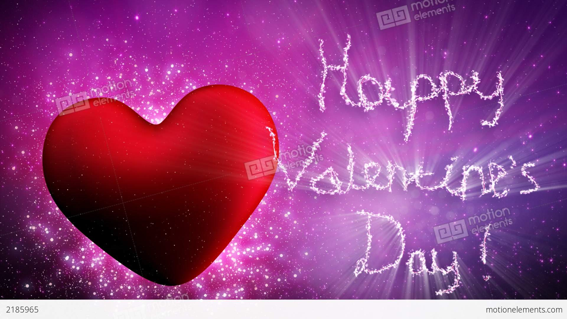 Happy Valentines Day Greetings Loopable Stock Animation 2185965