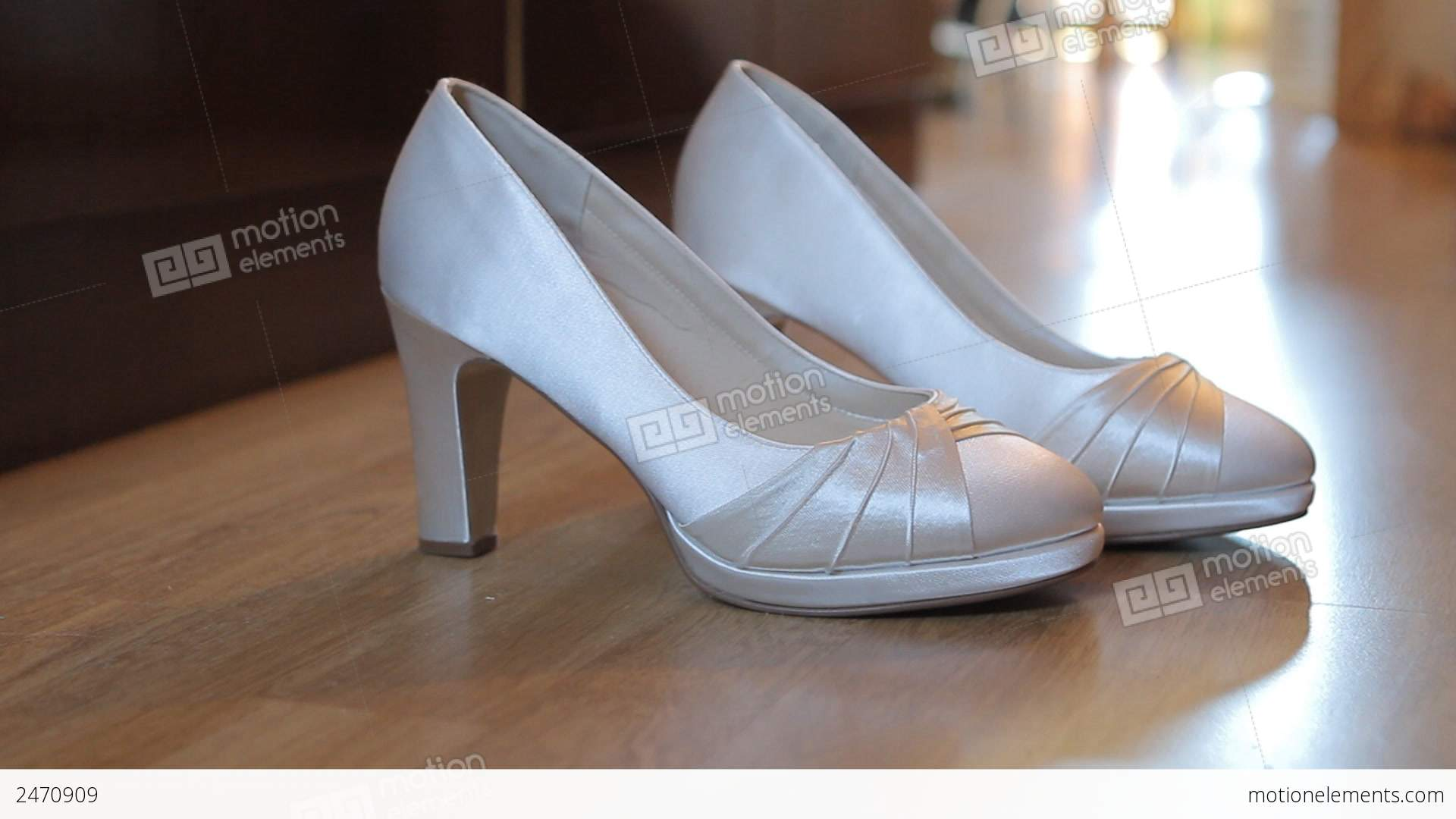 White Wedding Shoes Stock Video Footage