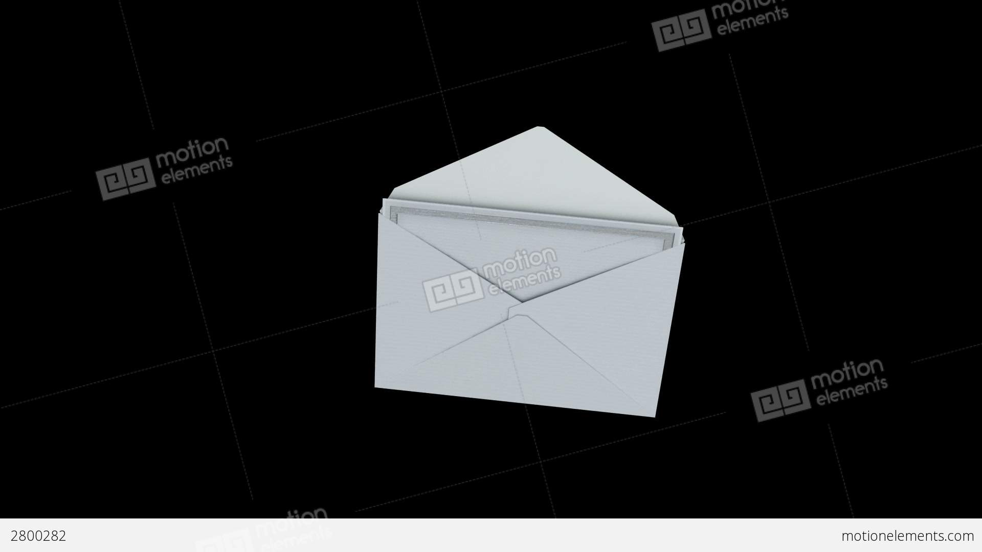 opening envelope invitation for different occasio stock animation