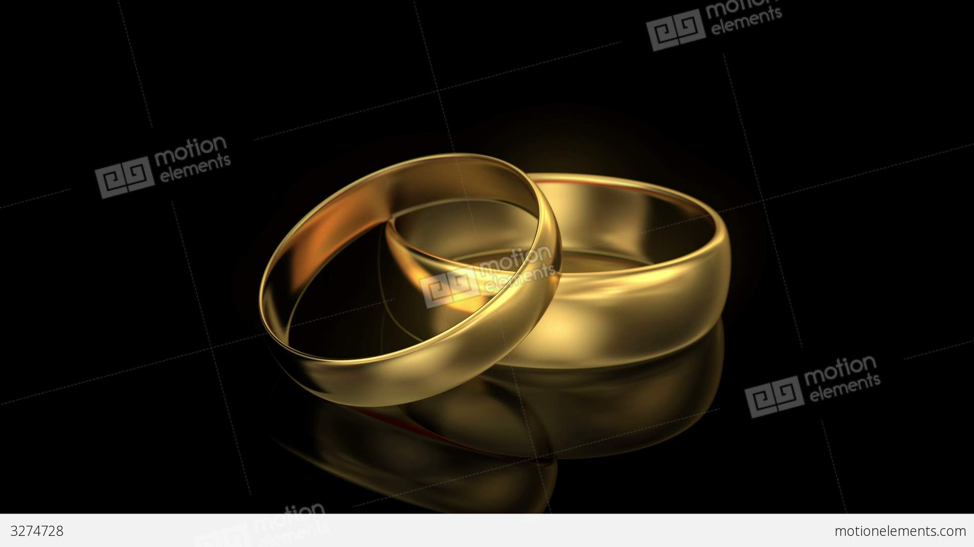 4k Zoom In Wedding Rings On Black Background Stock Video Footage