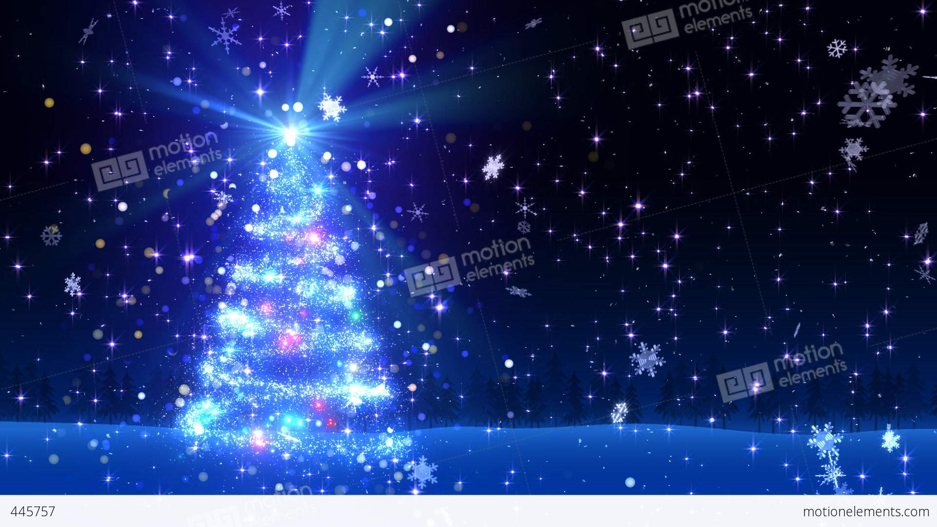 christmas tree glitter bl1 stock video footage - Glitter Christmas Tree