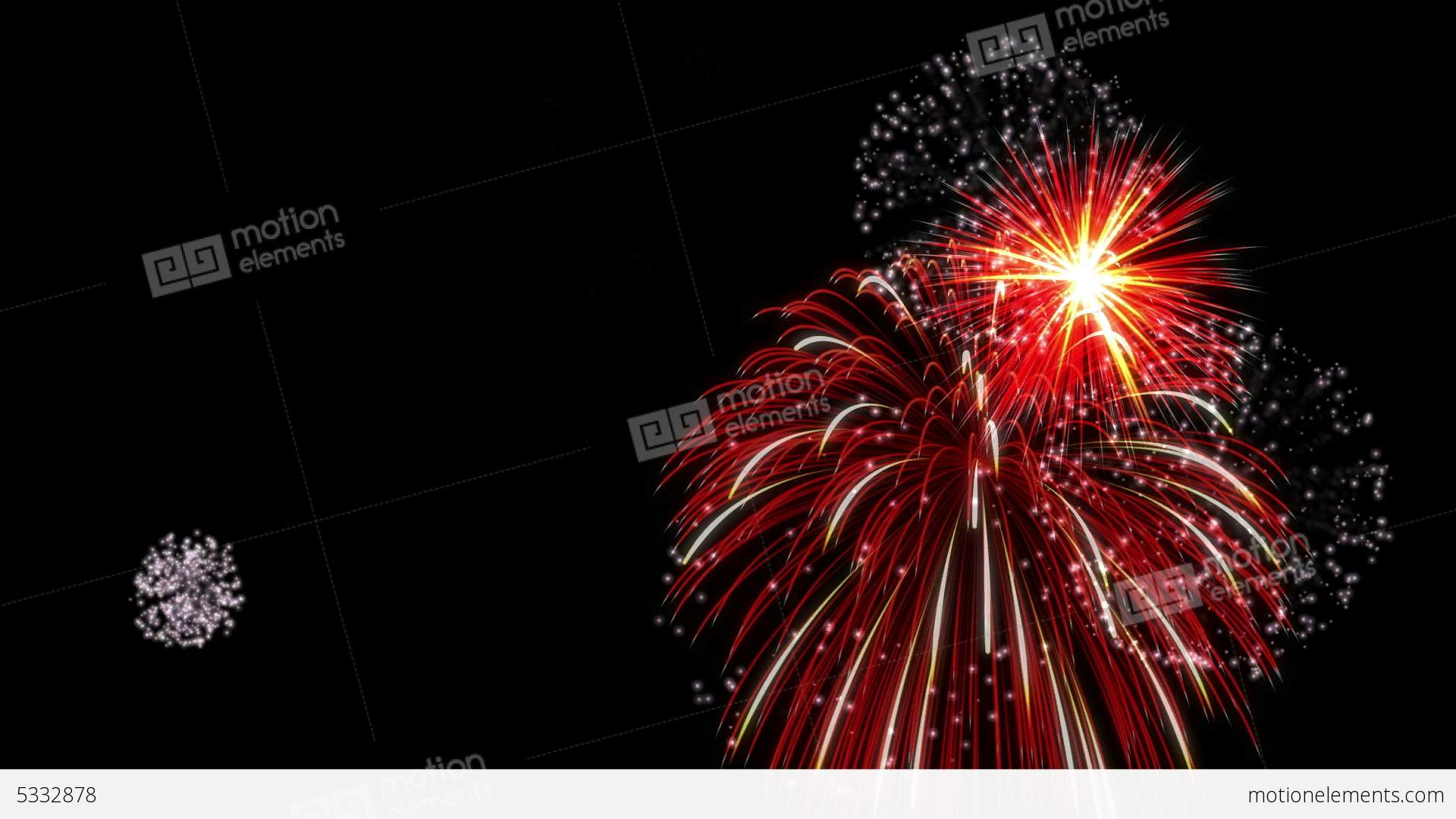 Red Fireworks Free Stock Photo: White & Red Fireworks Stock Animation