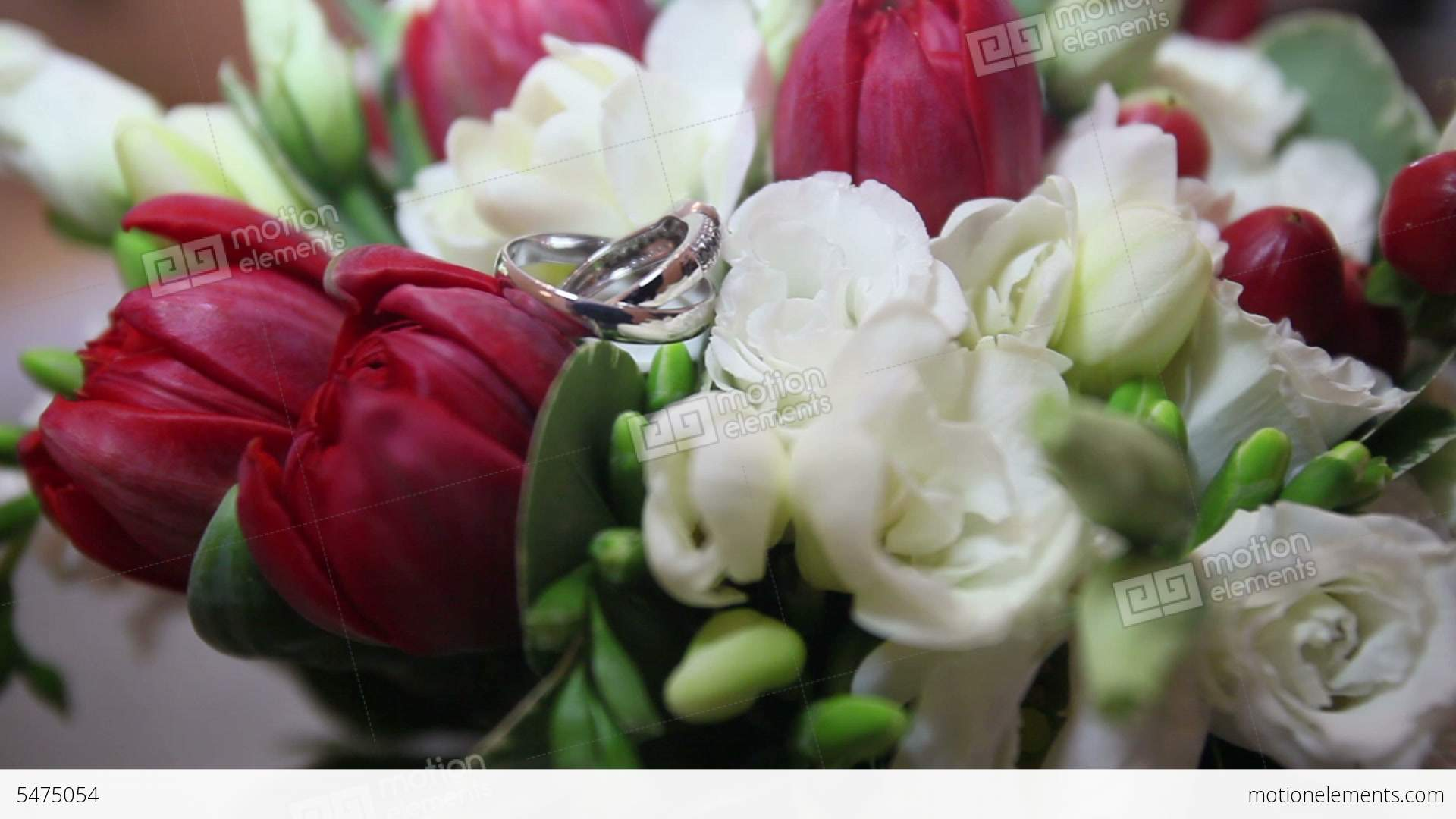 rings bouquet shoes