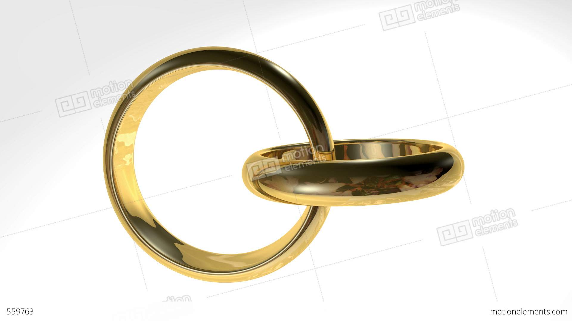 Two Golden Rings Stock Animation | 559763