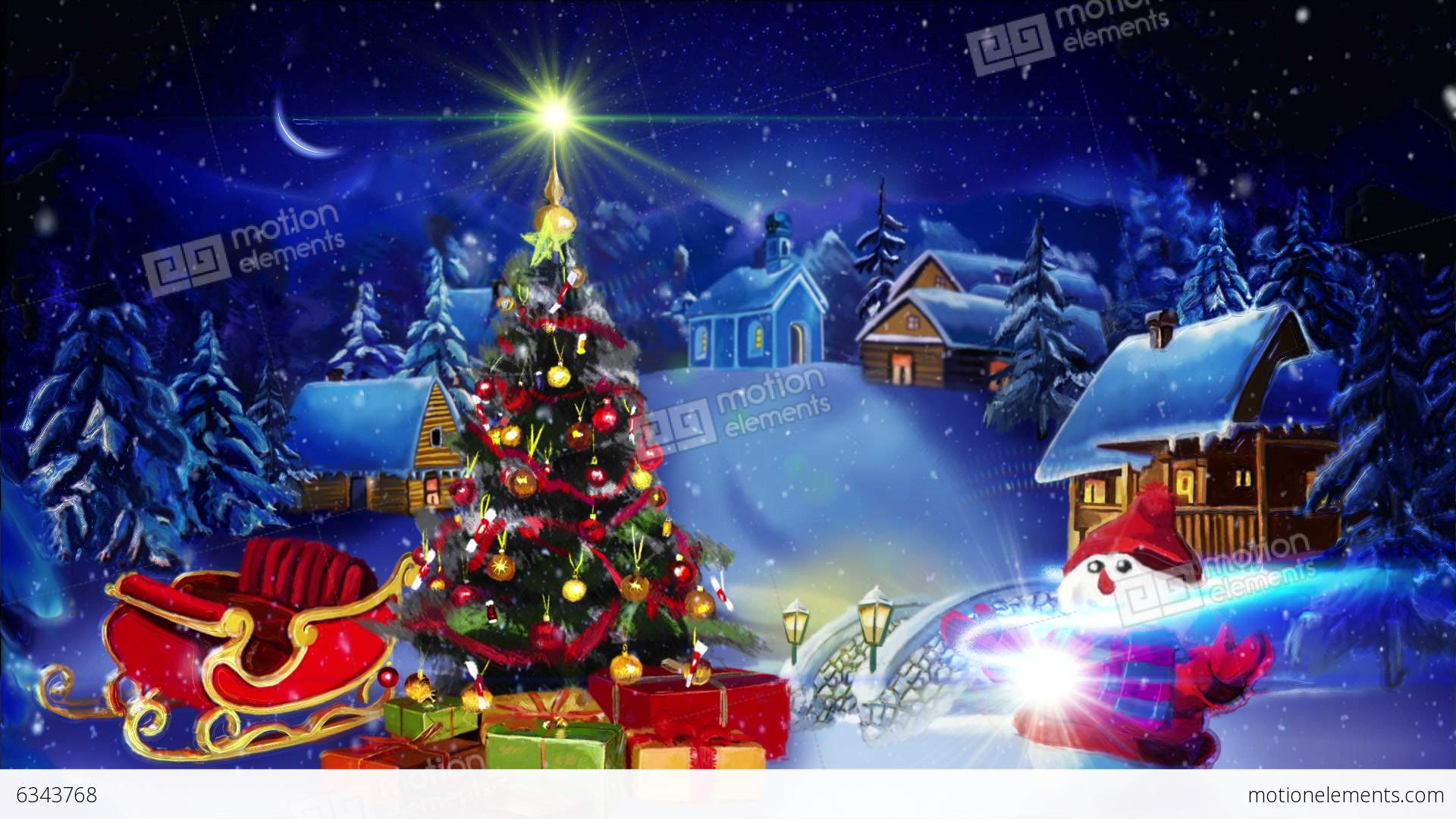 Winter Greeting Happy New Year Stock Animation 6343768