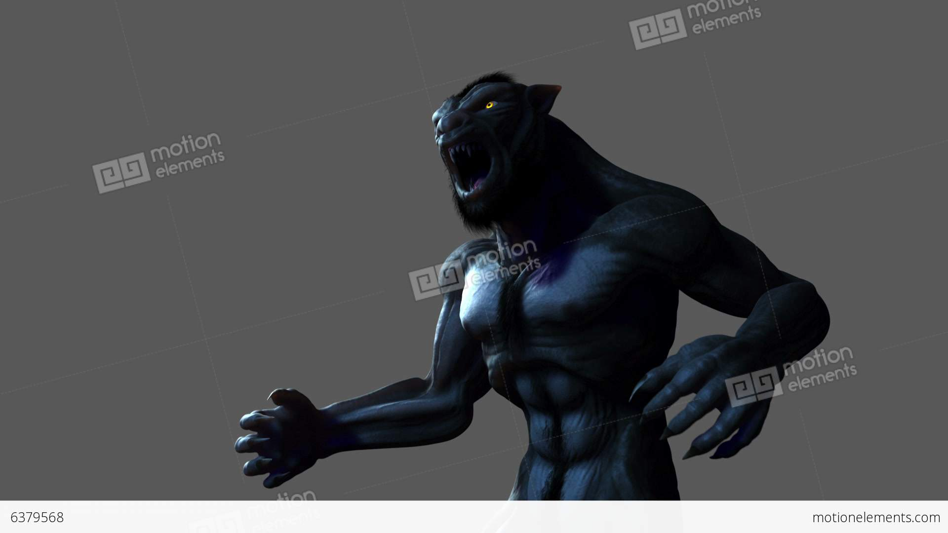Werewolf Transformation (with Alpha Matte) Stock Animation ...