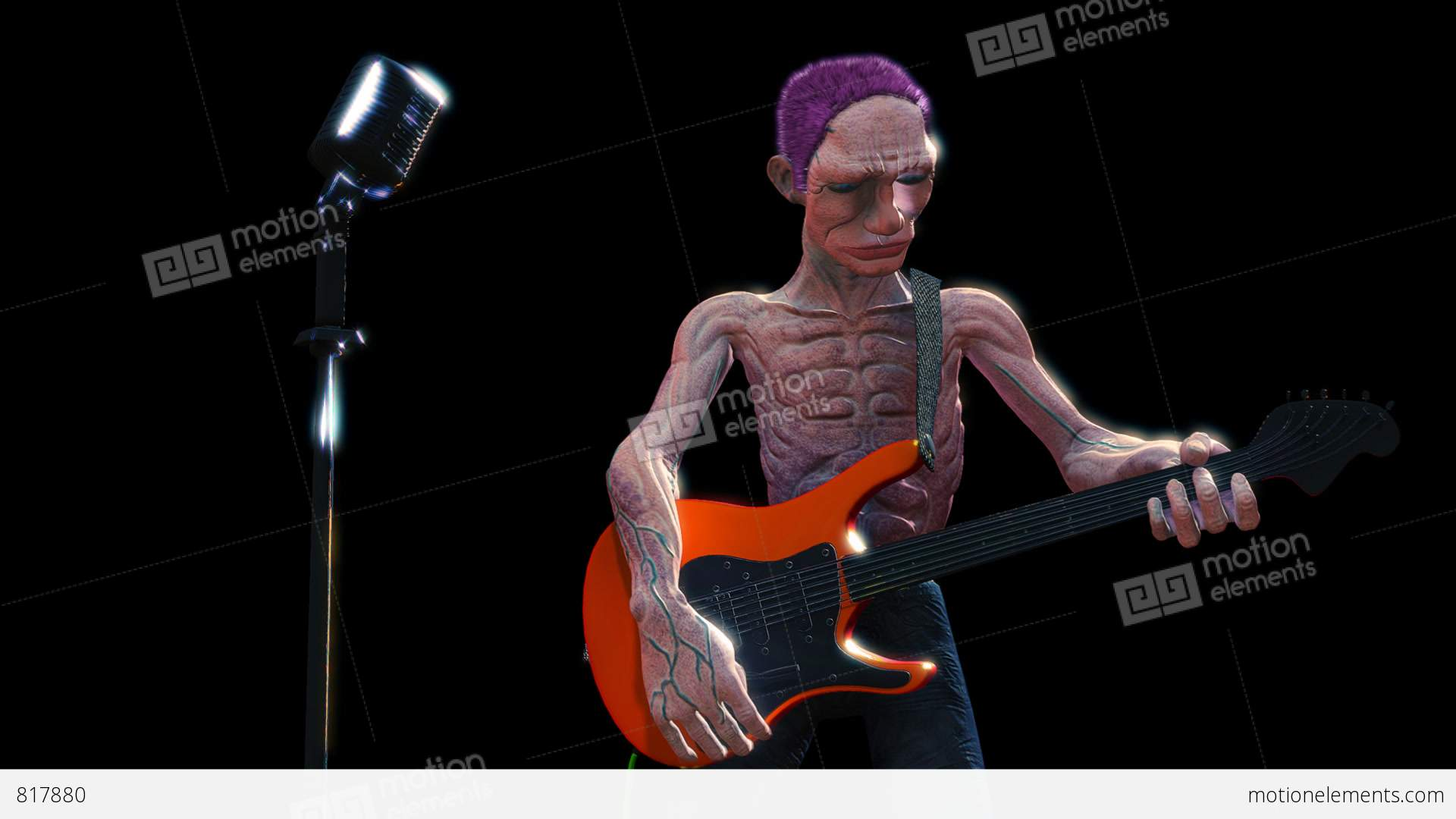 guitar player stock animation
