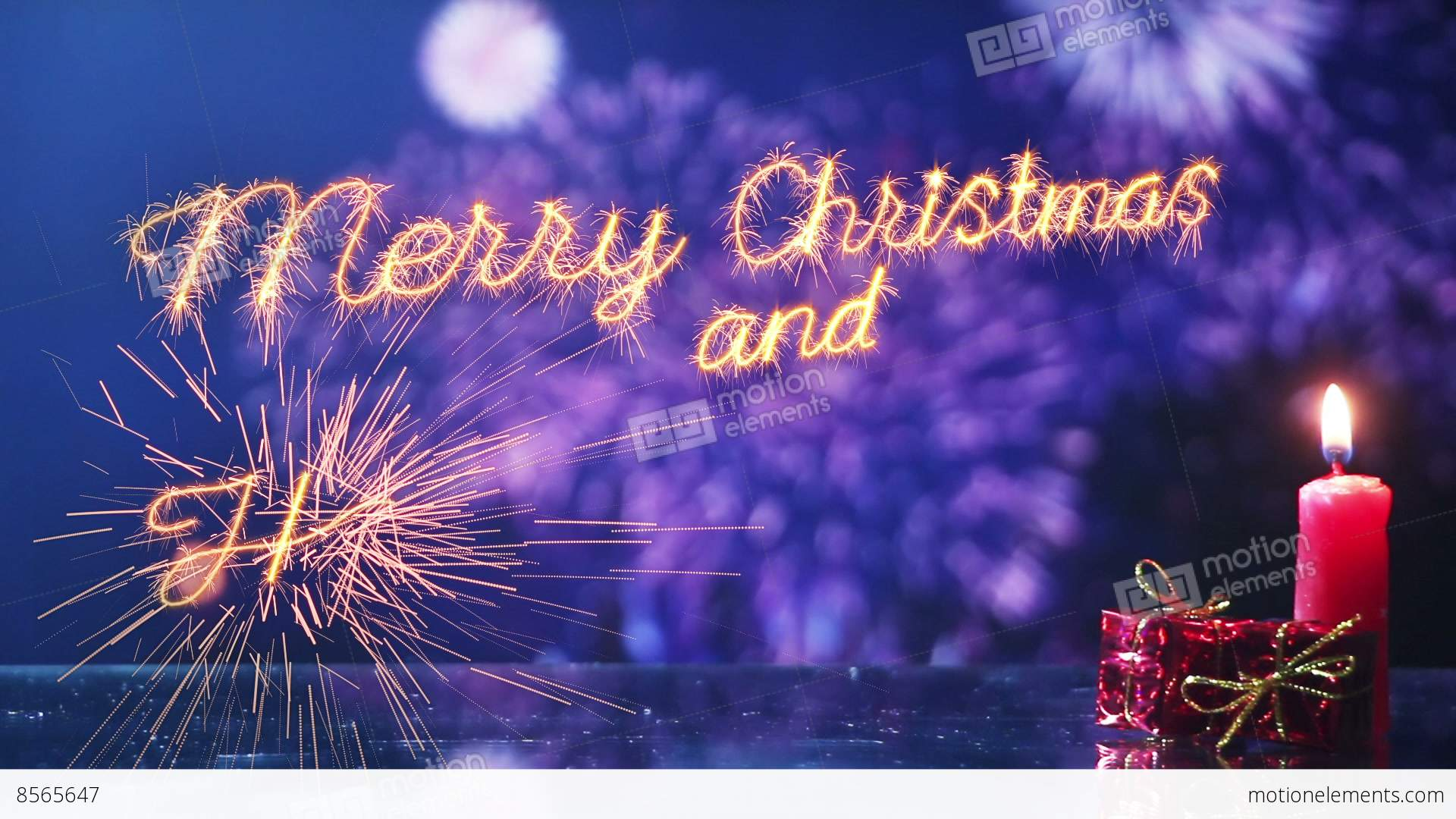 Merry christmas and new year greeting last 10 seconds loop stock merry christmas and new year greeting last 10 seconds loop stock video footage kristyandbryce Image collections