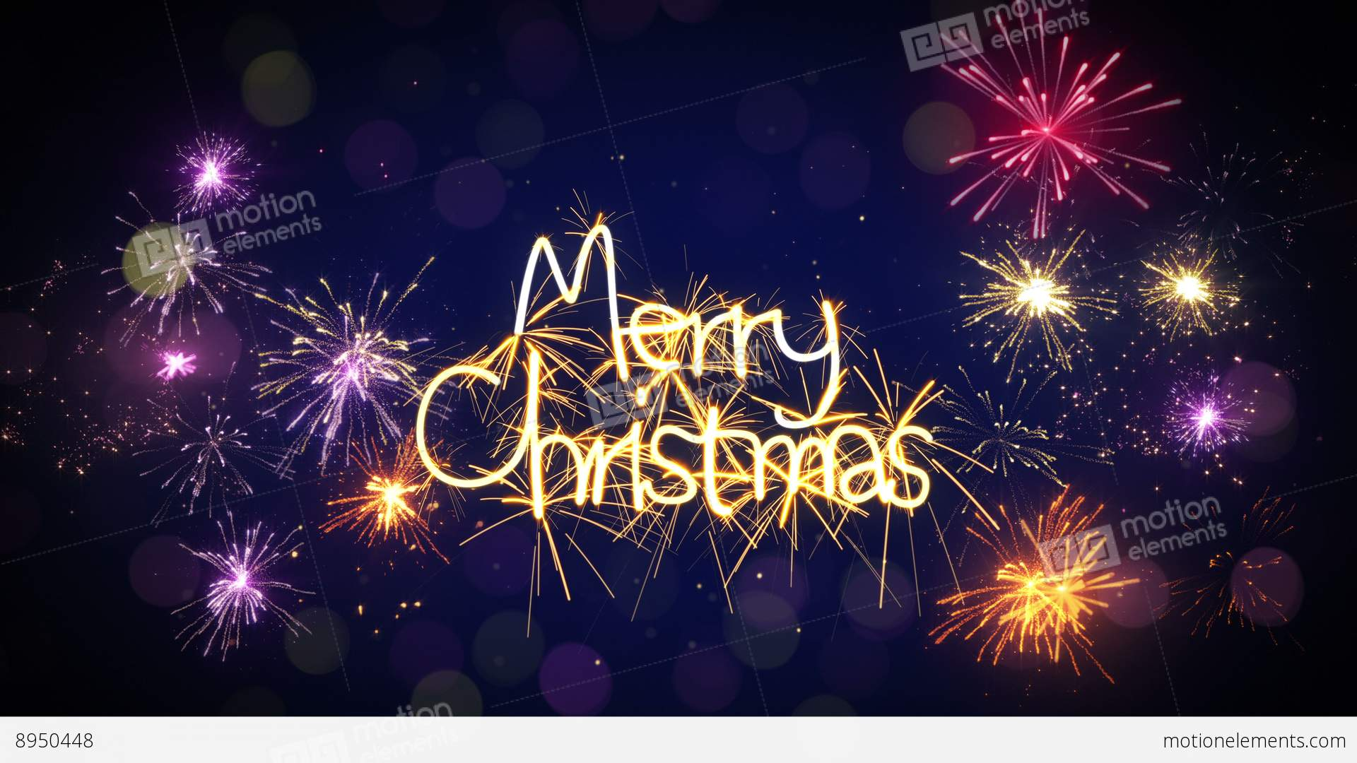 Merry Christmas Sparkler Text And Firework Loop 4k (4096x2304) Stock ...