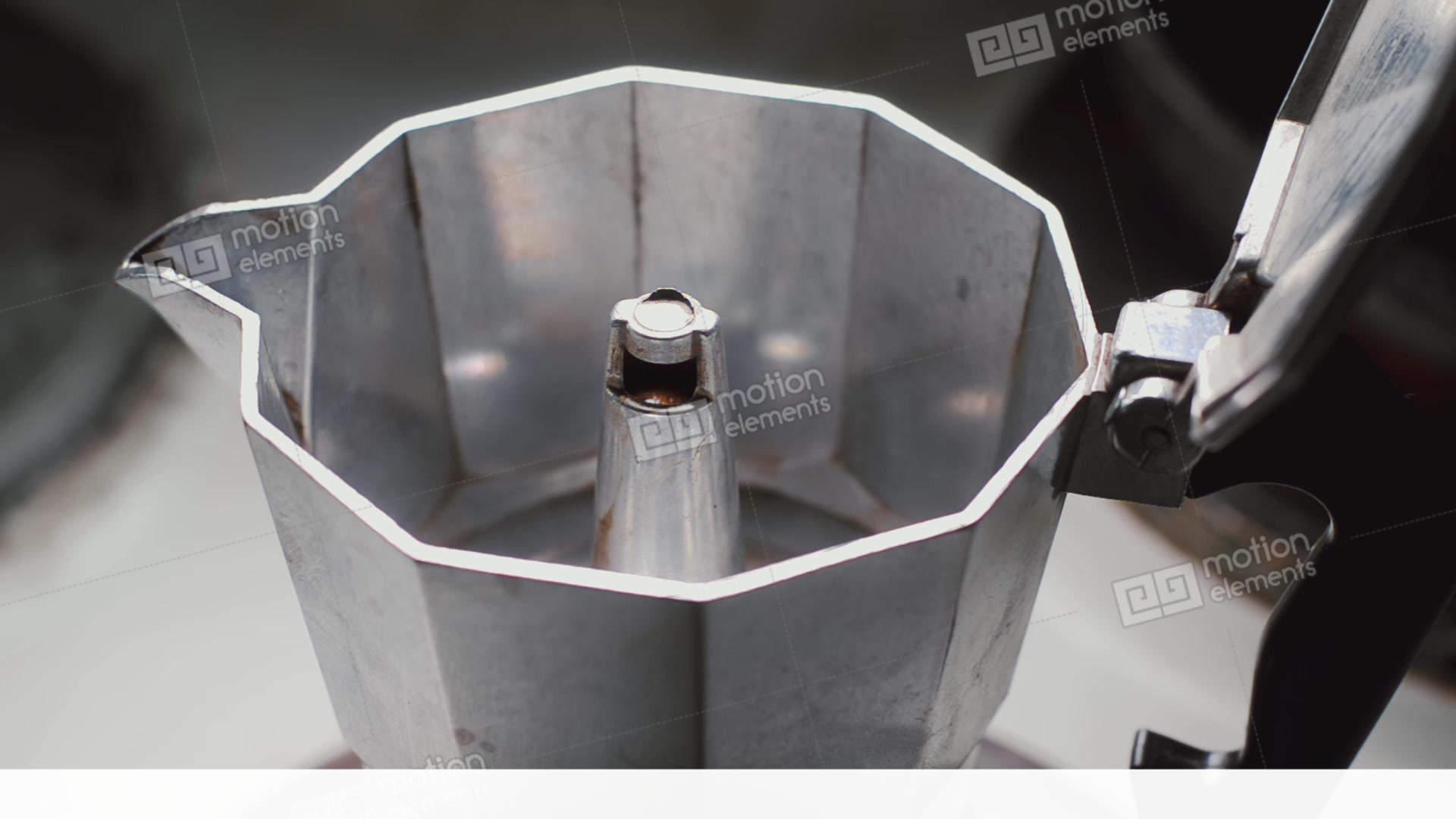 moka pot brewing on a stove italian espresso coffee. Black Bedroom Furniture Sets. Home Design Ideas
