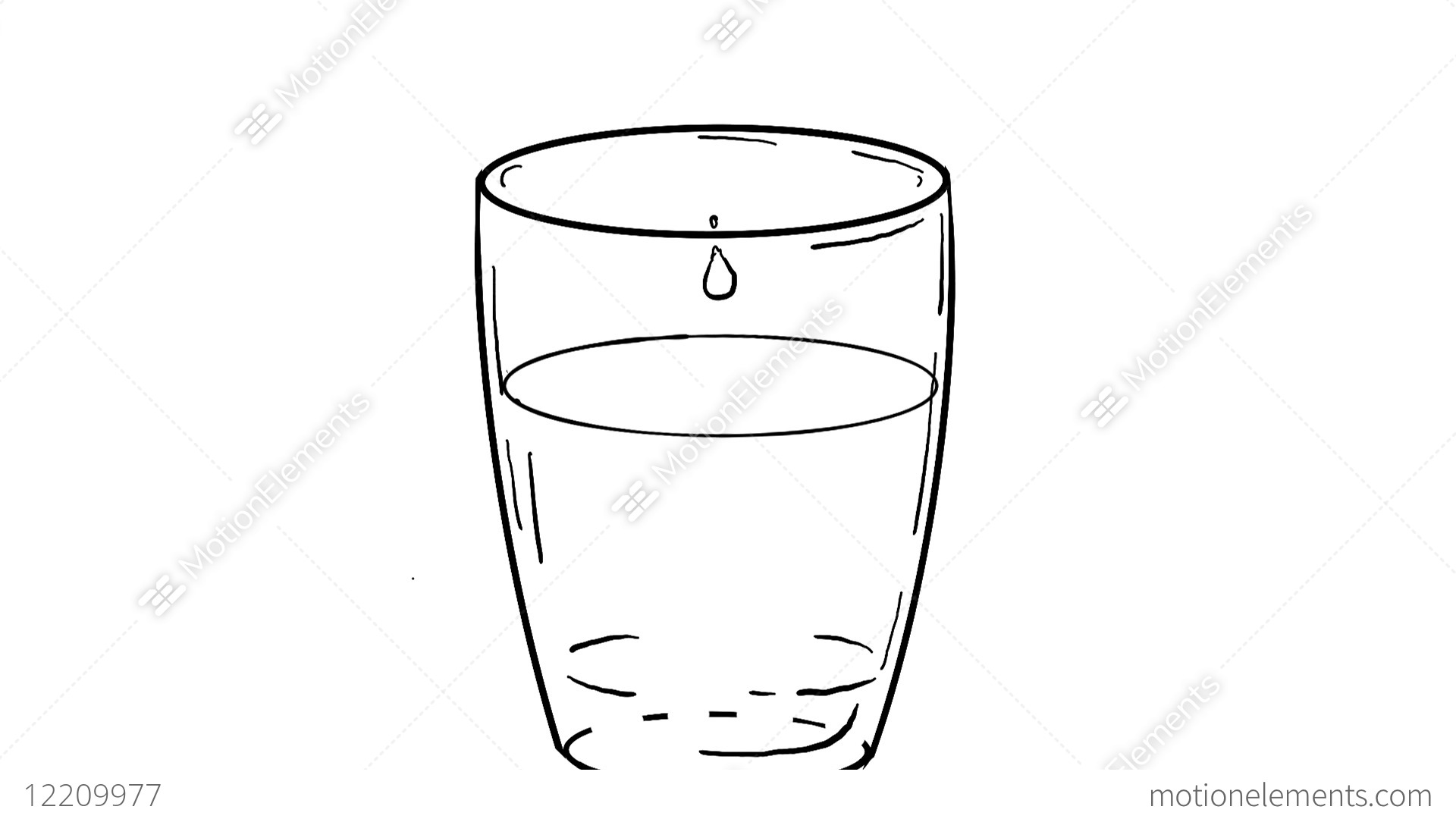 Drop Of Water Dripping On Glass Drawing 2d Animation Stock Animation