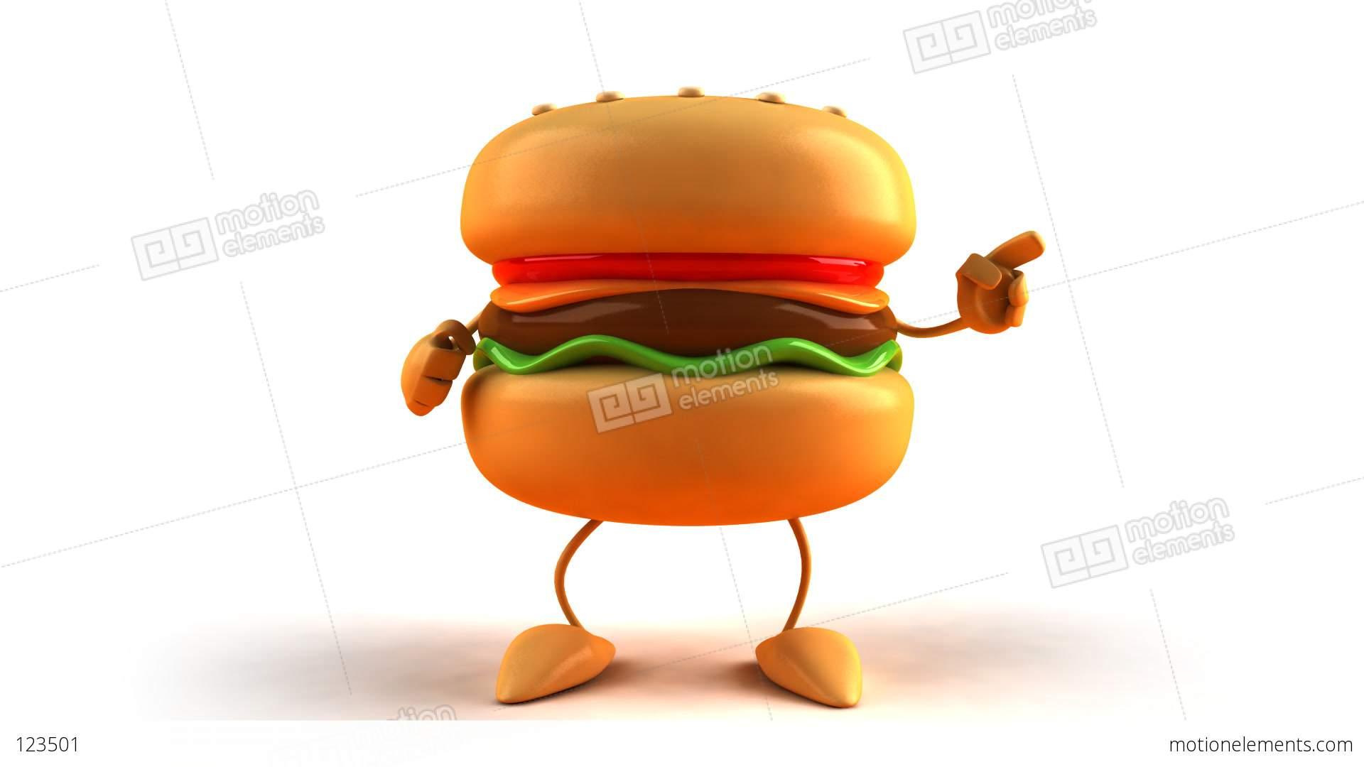 Burger dance 1 stock animation 123501 for Animation cuisine