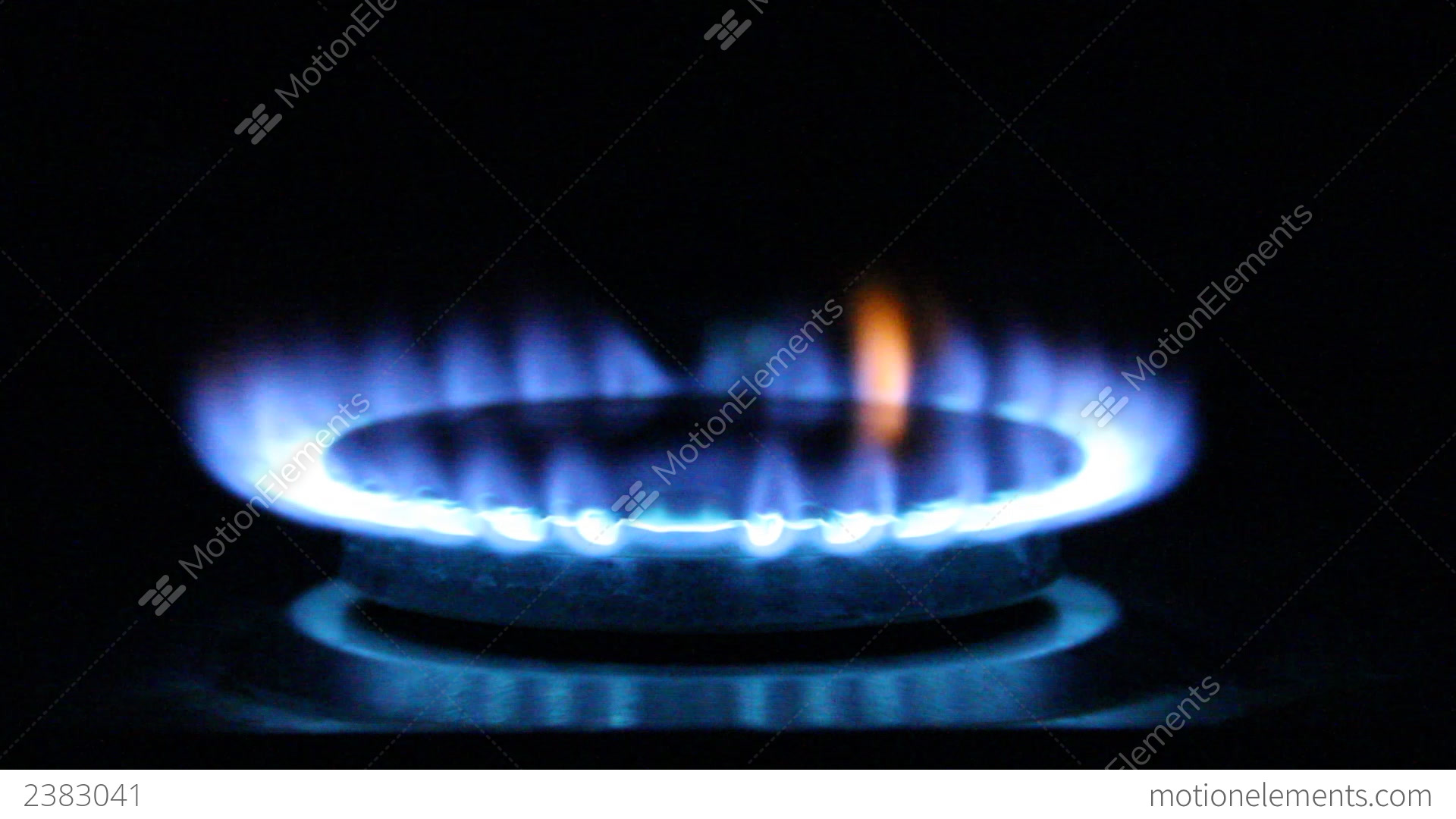 Gas Flame Natural Of A Stove Stock Video Footage