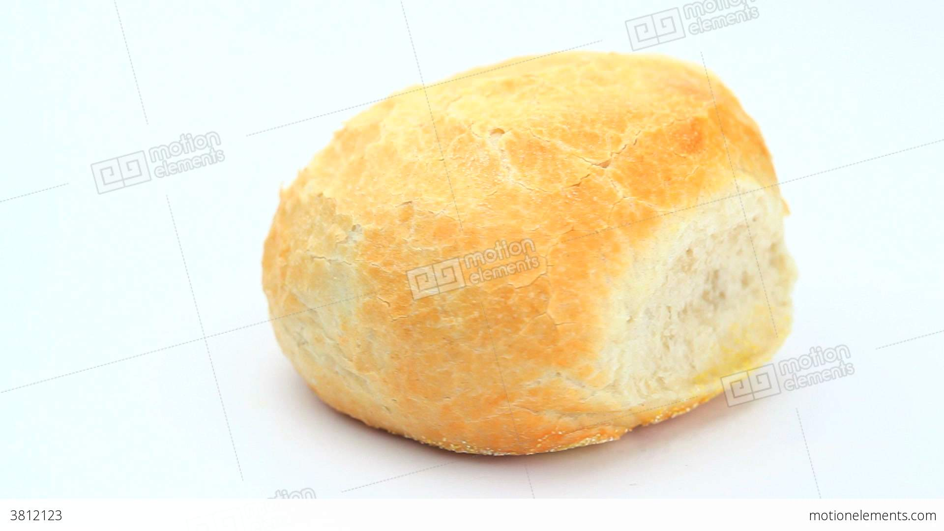 White bread roll rotating			 Stock Video Footage