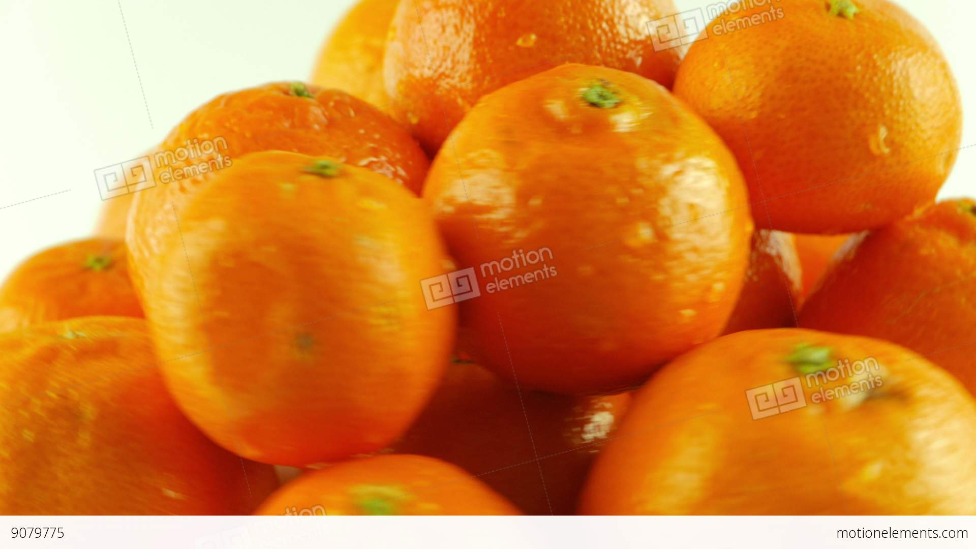 Background image rotate 90 - Macro Shot Of Rotating Tangerines White Background Stock Video Footage