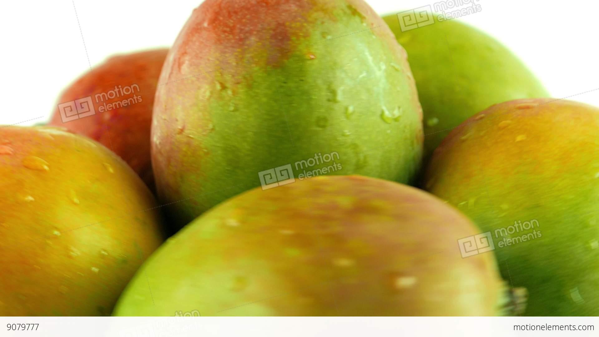 Background image rotate 90 - Macro Shot Of Rotating Mangoes White Background Stock Video Footage