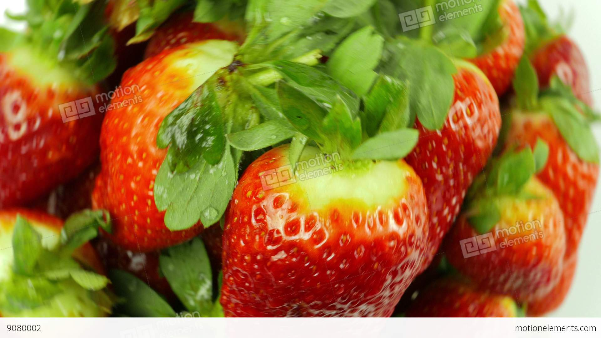 Background image rotate 90 - Top Down View Of Rotating Strawberries On White Background Stock Video Footage