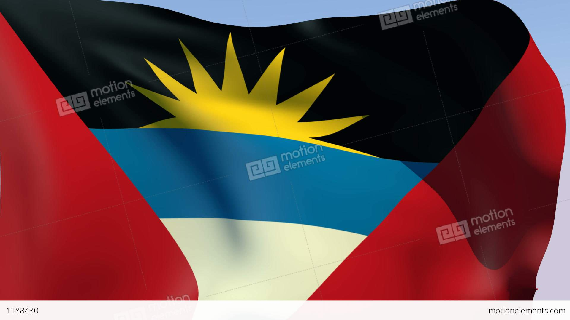 Flag Of Antigua And Barbuda Stock Animation  1188430