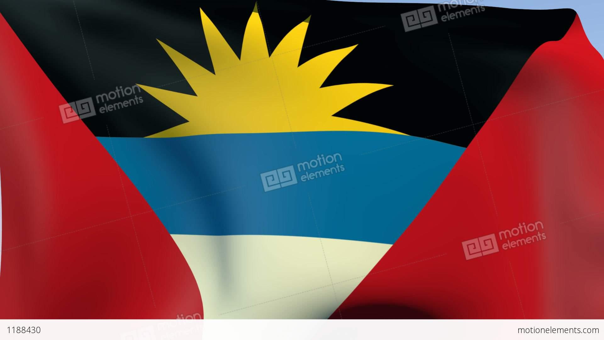 Flag Of Antigua And Barbuda Stock Animation  1188430