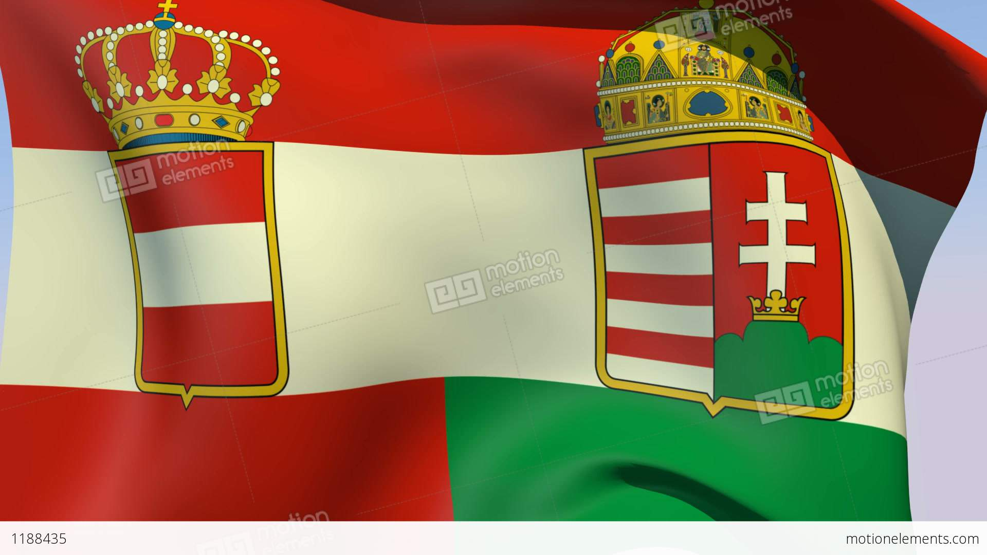 flag of austria hungary 1869 1918 stock animation 1188435